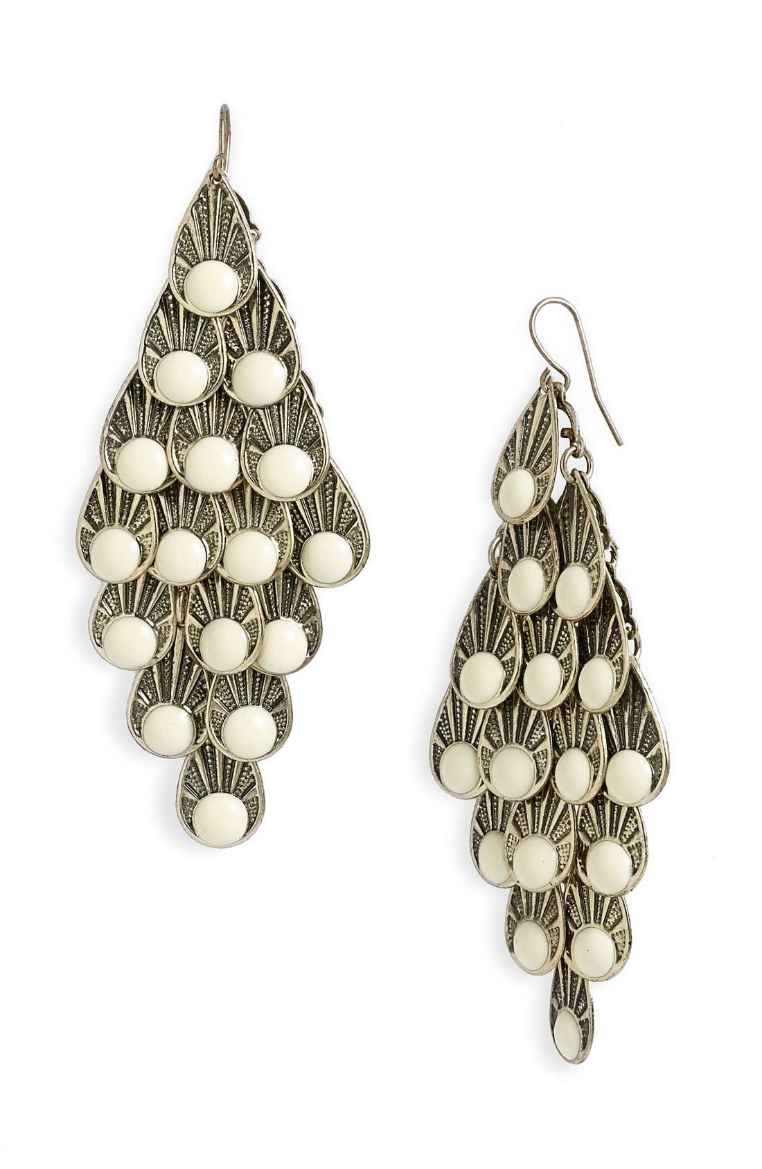 Alternate Image 1 Selected - Stephan & Co. Enameled Scale Chandelier Earrings