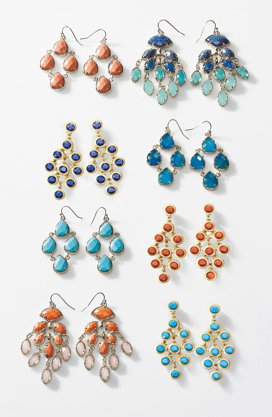 Alternate Image 3  - Tasha Enamel Stone Kite Earrings