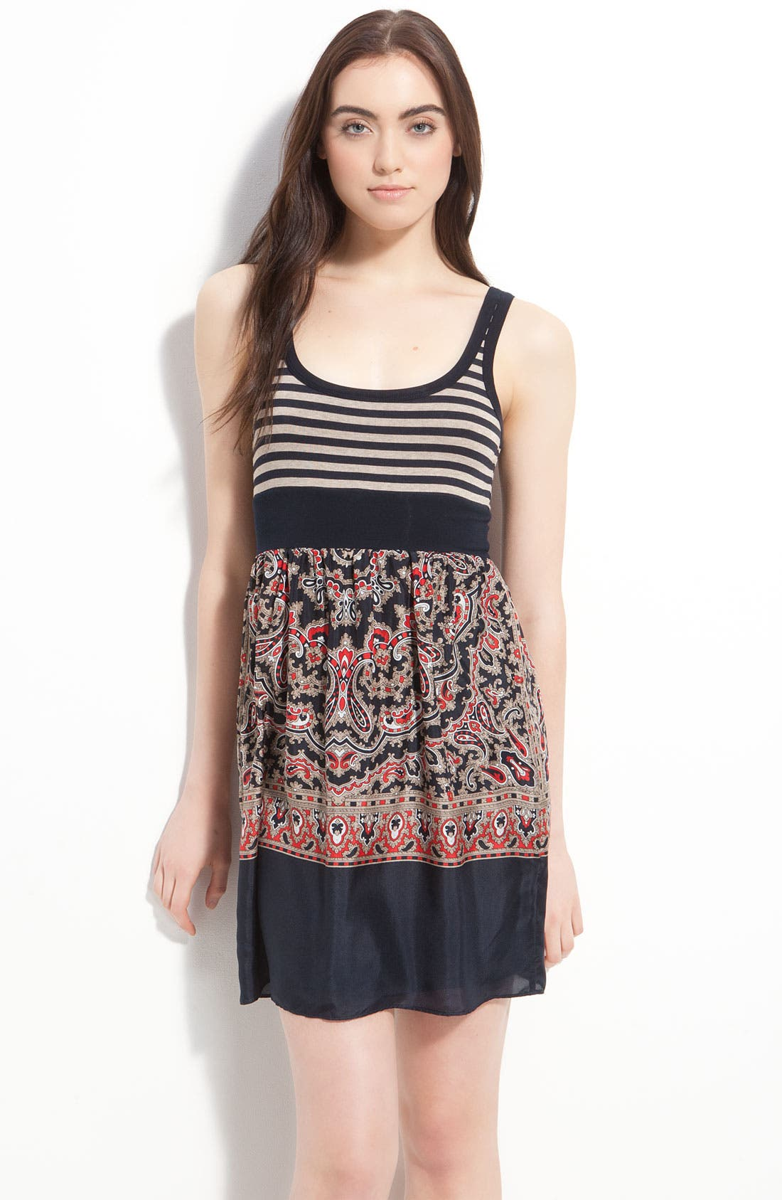 Alternate Image 1 Selected - Bailey 44 'Island Fever' Stripe & Scarf Print Tank Dress