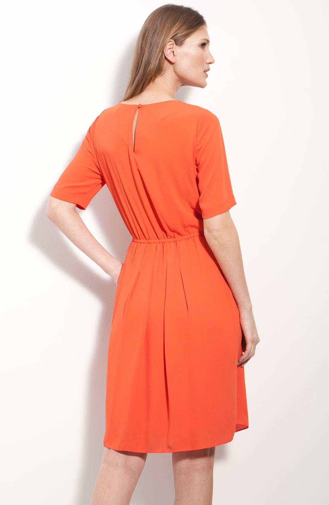 Alternate Image 2  - BCBGMAXAZRIA Pleated Chiffon Dress