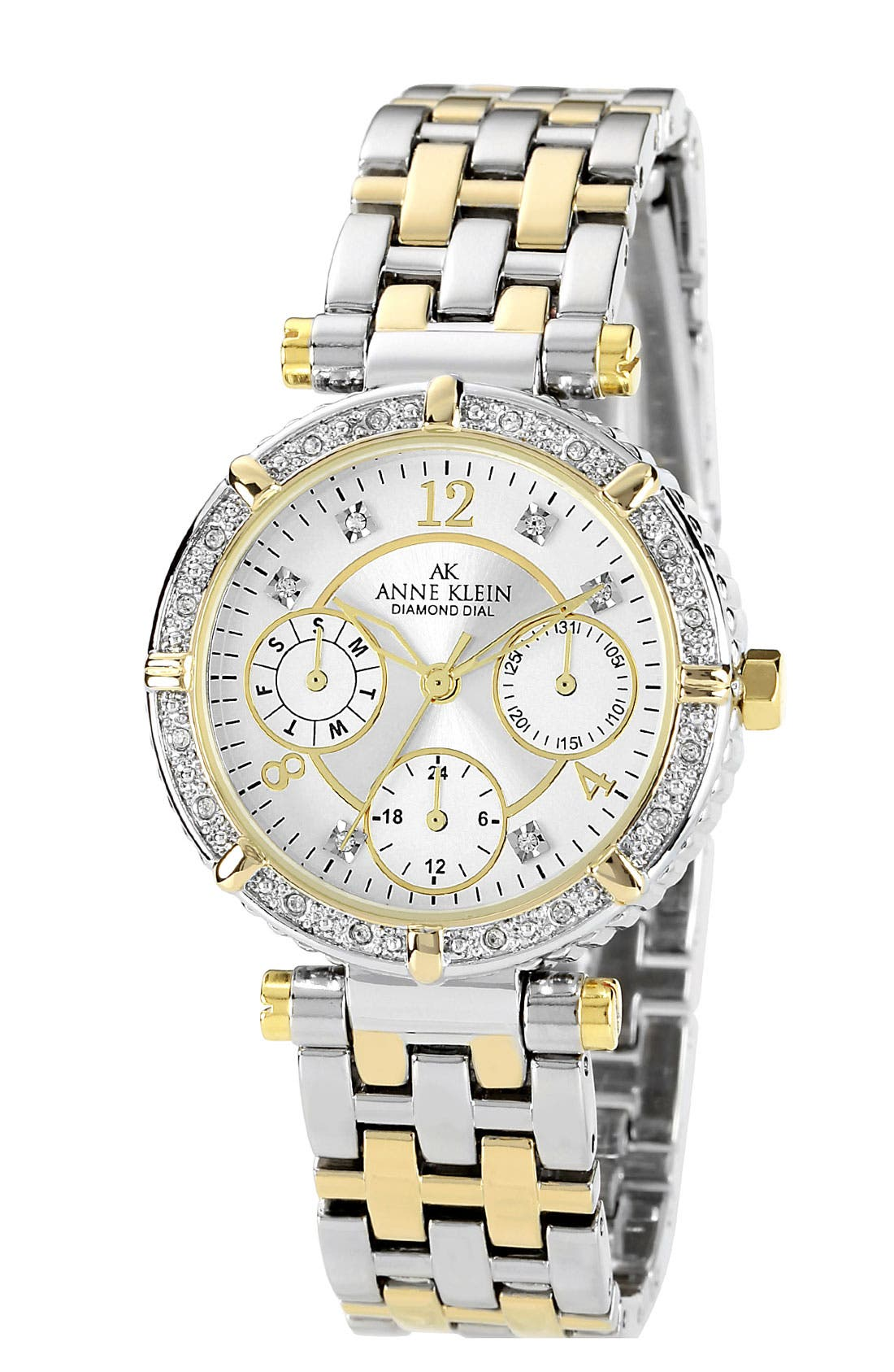 Alternate Image 1 Selected - Anne Klein Round Multifunction Bracelet Watch
