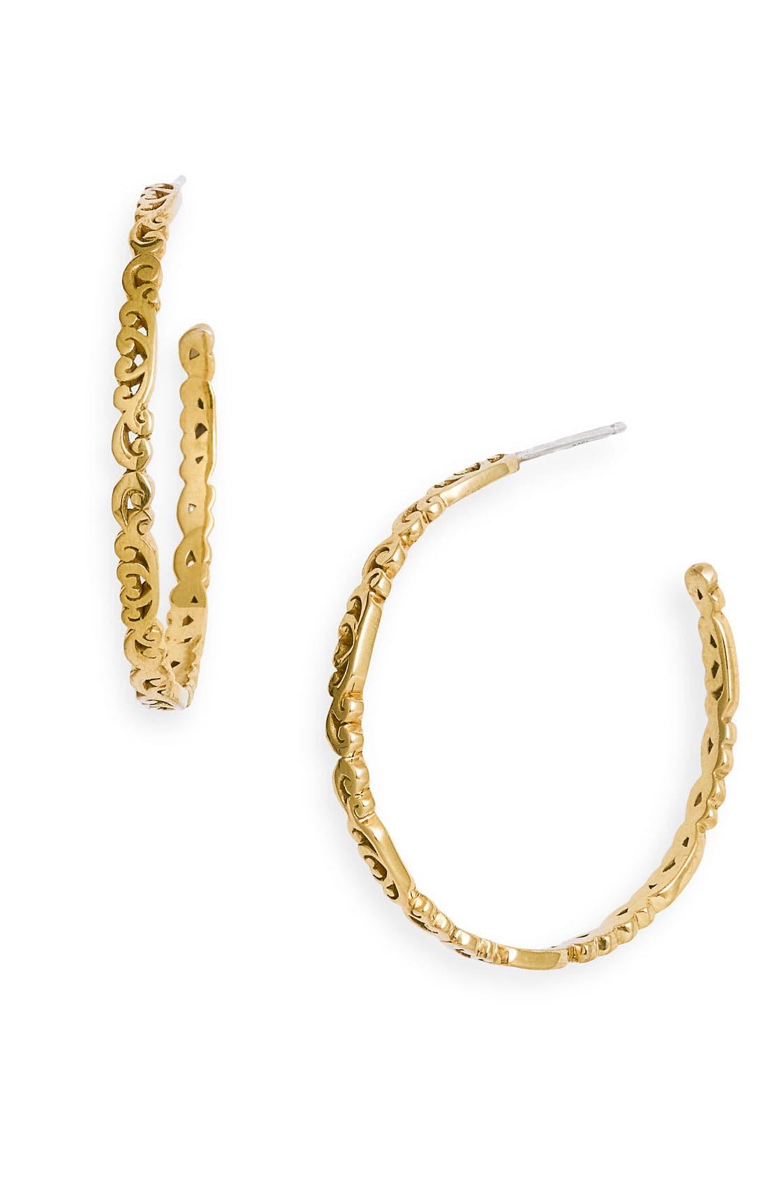 Main Image - Lois Hill 'Two Tone Organic Geo' Thin Scroll Hoop Earrings