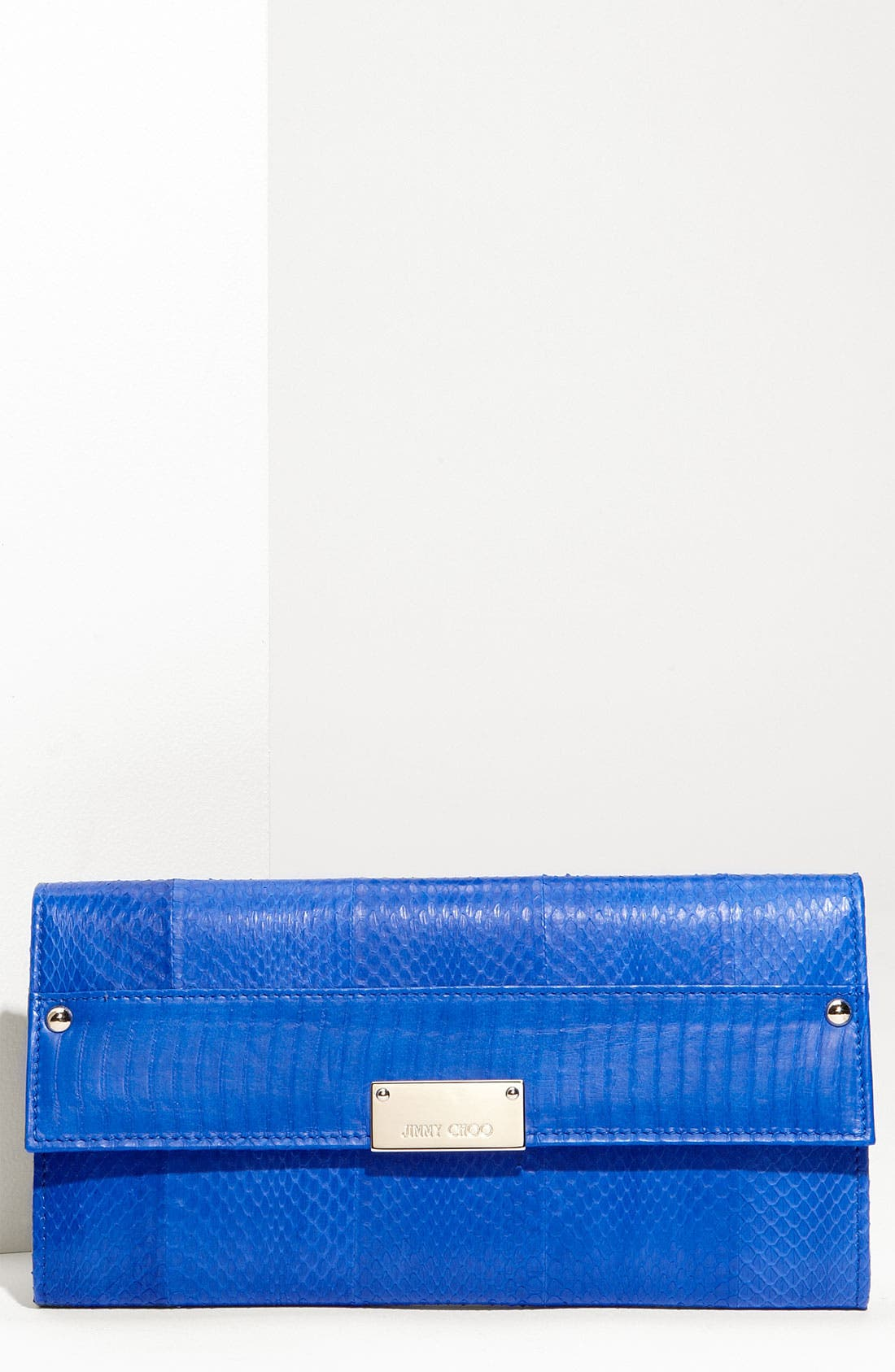 Main Image - Jimmy Choo 'Reese' Embossed Leather Clutch