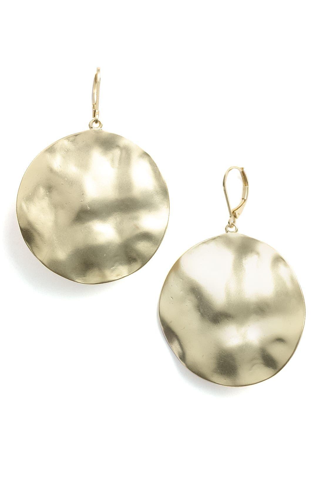 Alternate Image 1 Selected - Nordstrom 'Gold Water' Large Disc Drop Earrings