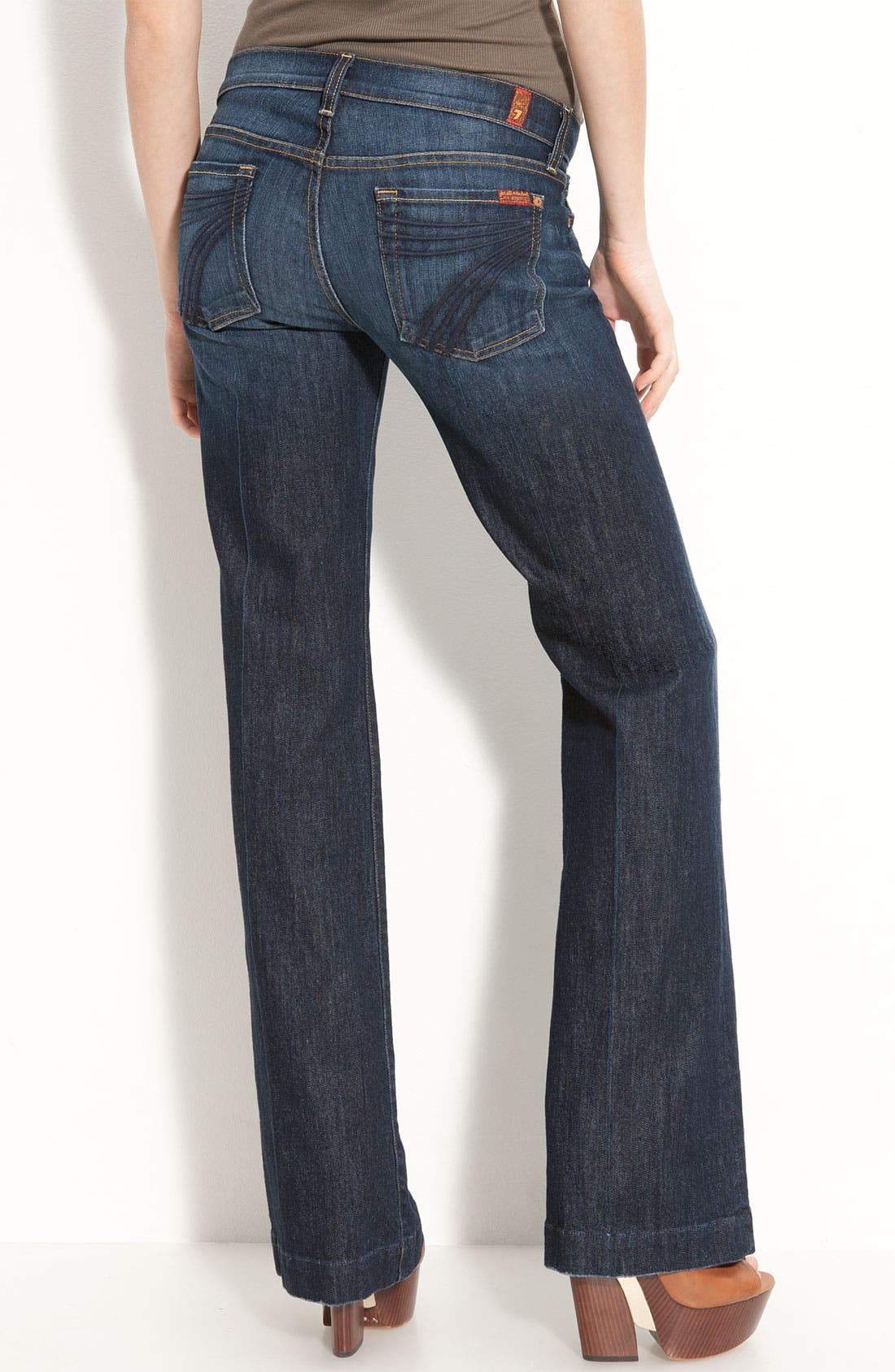 Alternate Image 2  - 7 For All Mankind® 'Dojo' Stretch Trouser Jeans (Short) (Midnight New York)