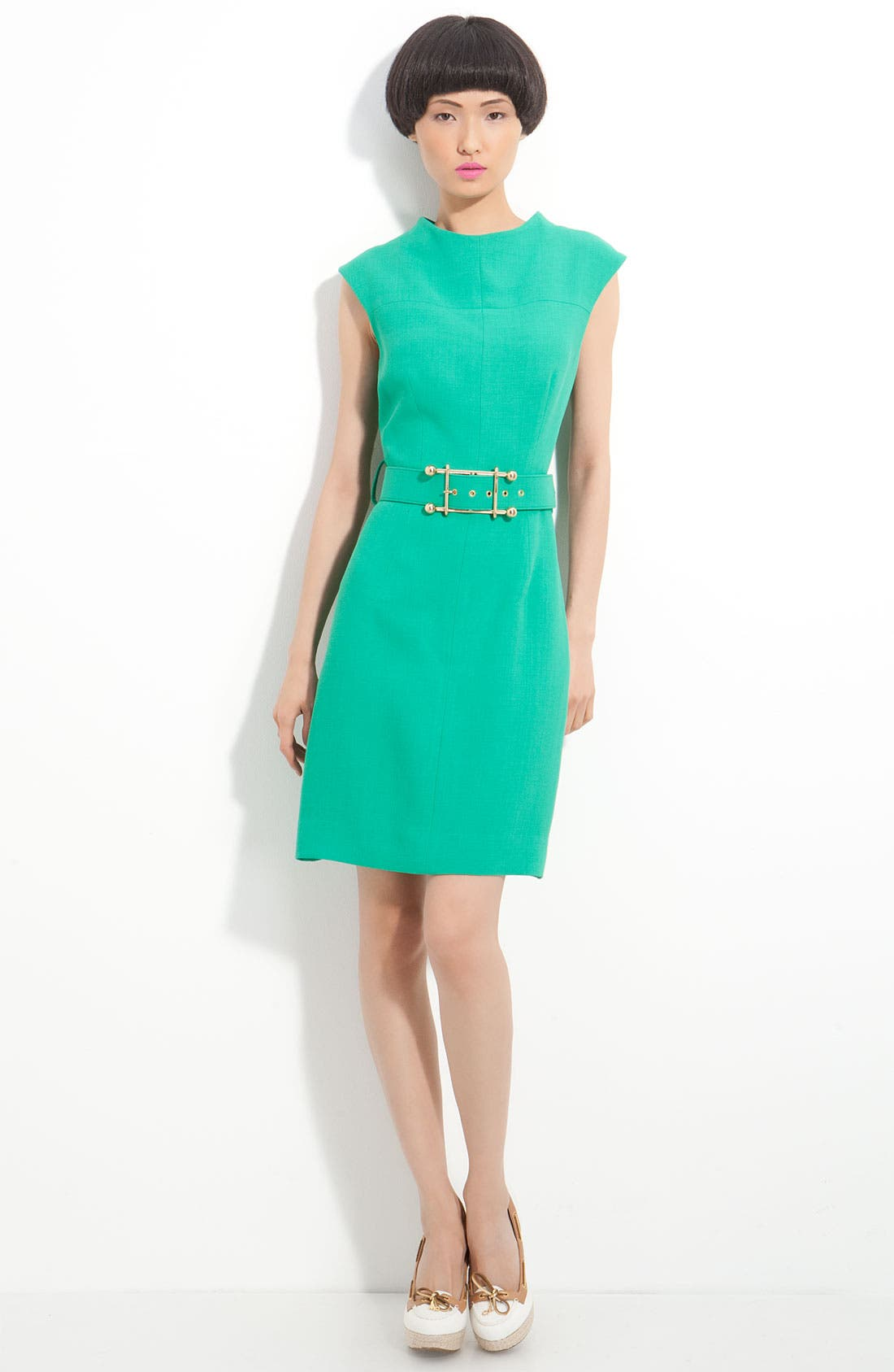 Main Image - Milly 'Joanne' Belted Double Weave Dress