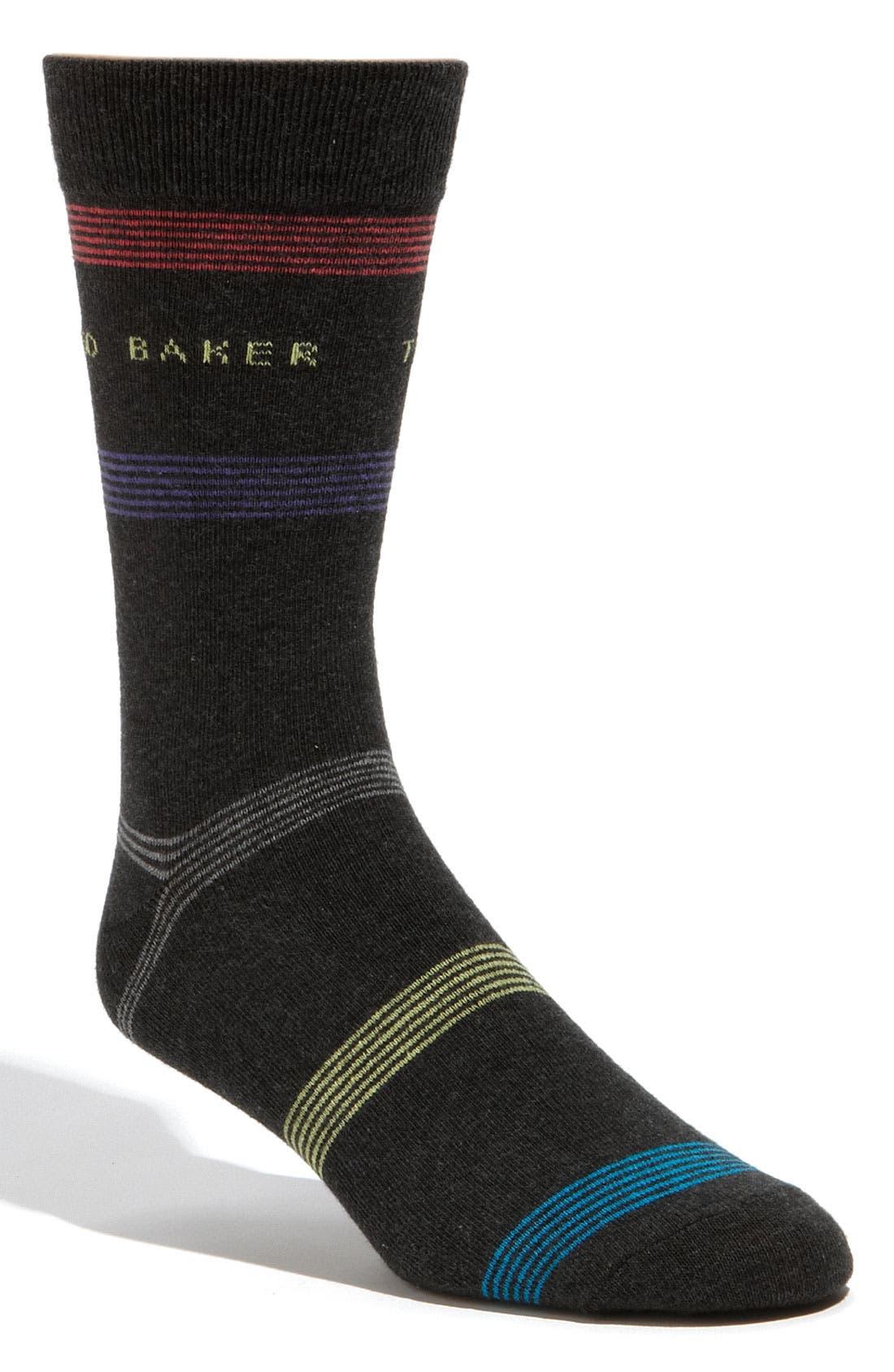 Main Image - Ted Baker London 'Spaced Stripe' Socks