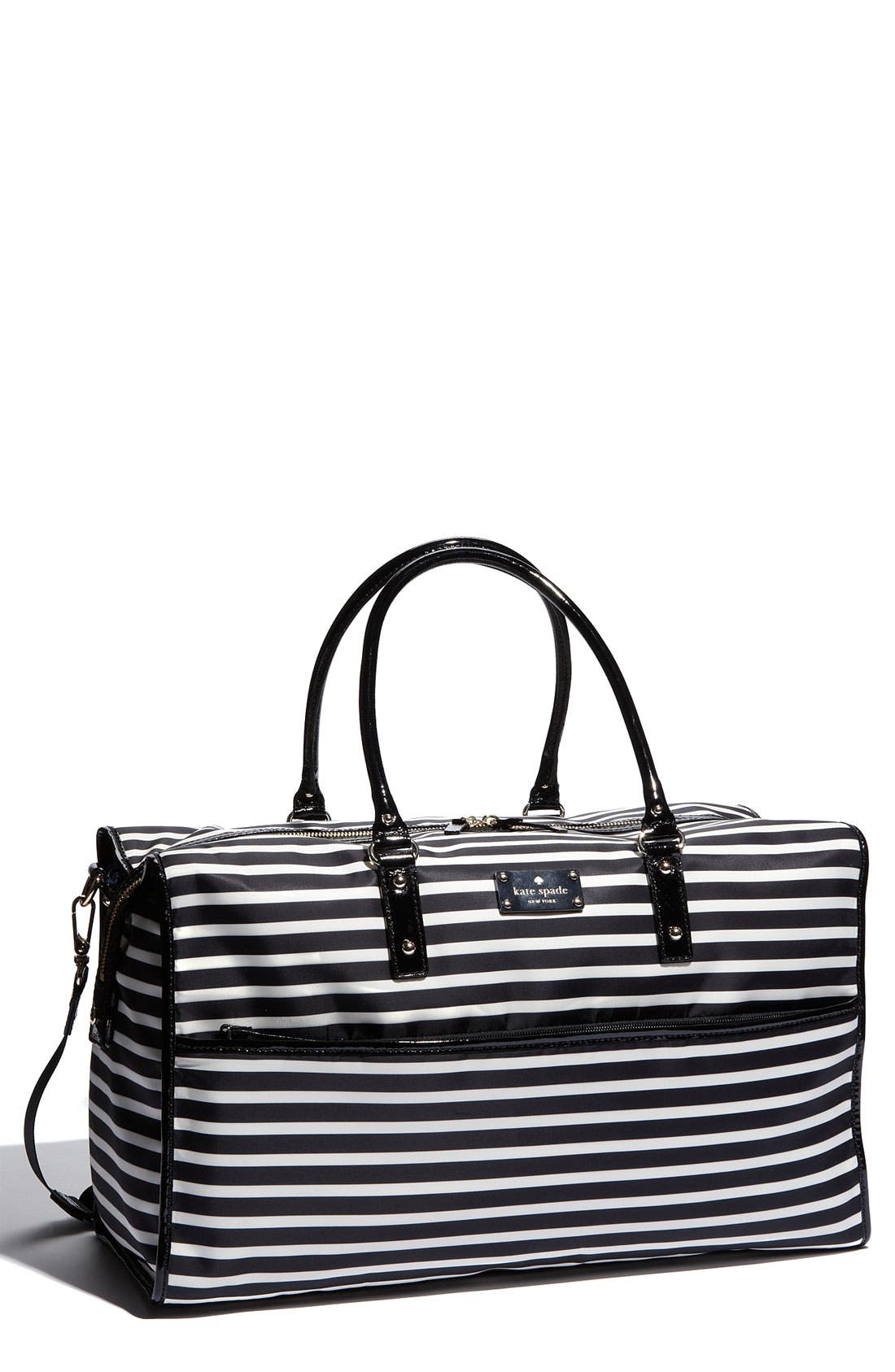 Main Image - kate spade new york 'adara' stripe nylon tote