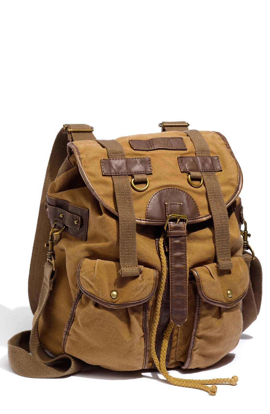Alternate Image 1 Selected - T-Shirt & Jeans Faux Leather Trim Field Backpack
