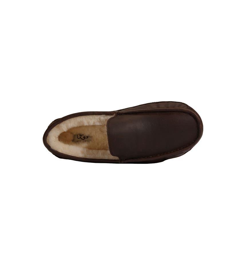 Mens Leather Bedroom Slippers Uggar Ascot Leather Slipper Men Nordstrom