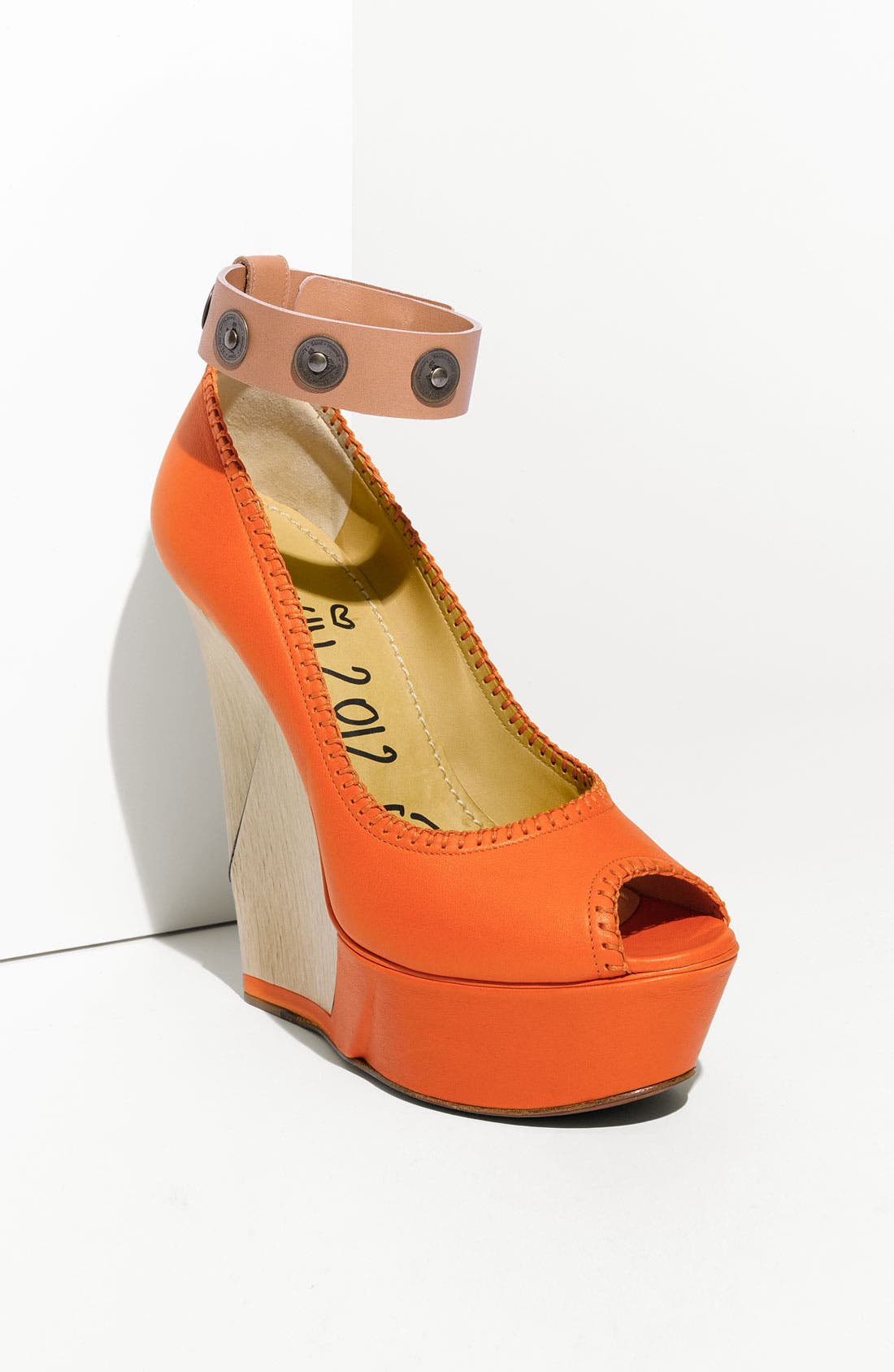 Alternate Image 1 Selected - Lanvin 'Puzzle' Open Toe Wedge