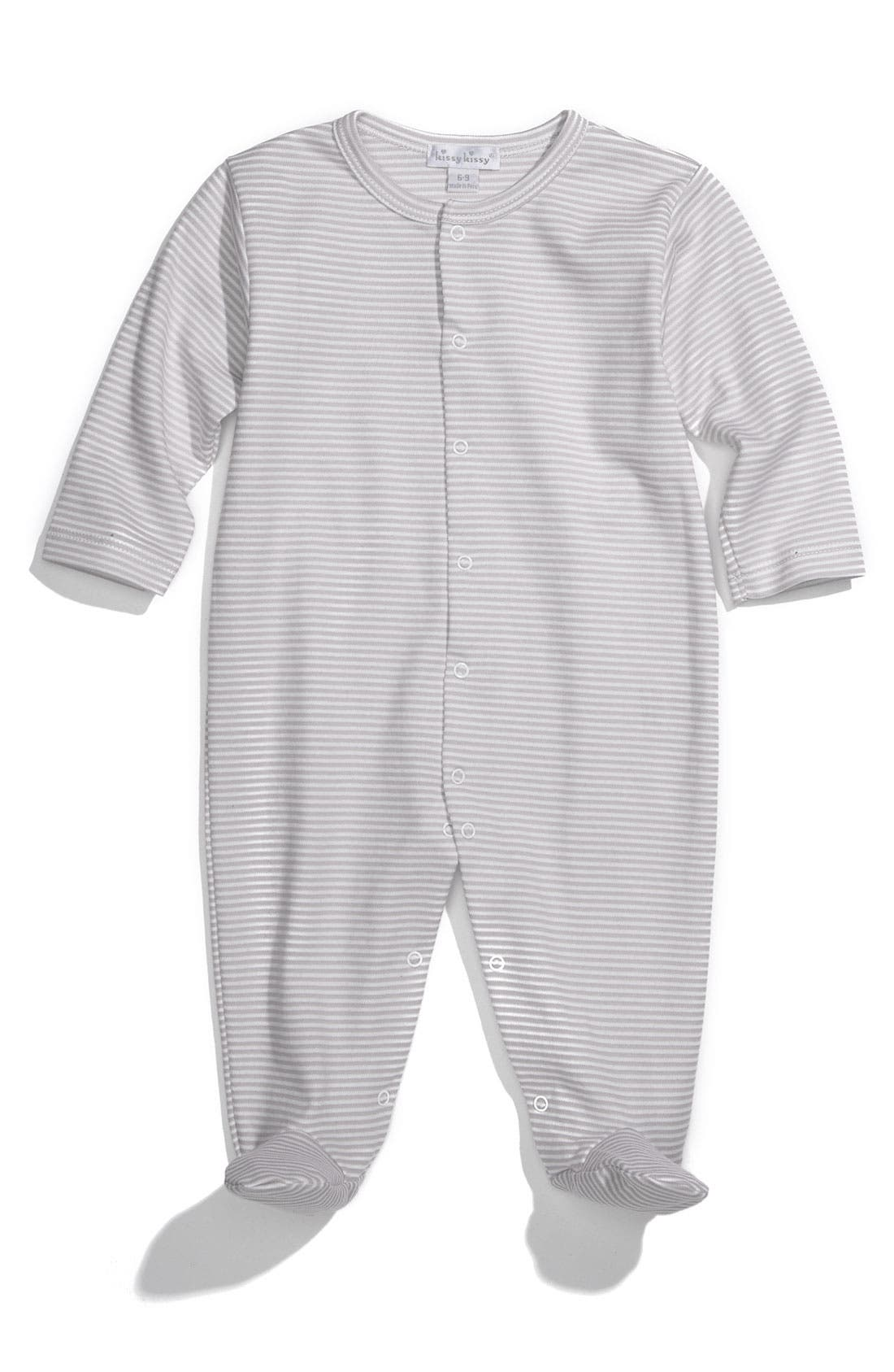 Alternate Image 1 Selected - Kissy Kissy Pima Cotton Footie (Infant)