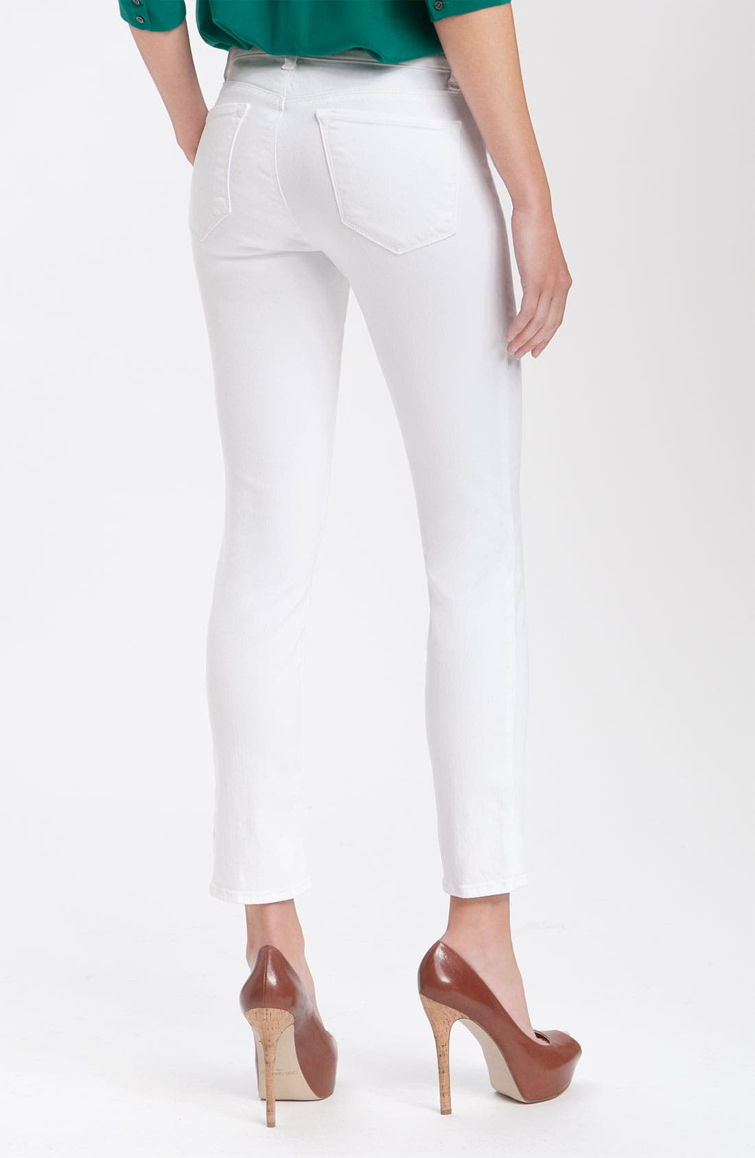 Alternate Image 2  - J Brand Mid-Rise Skinny Jeans (Snow)