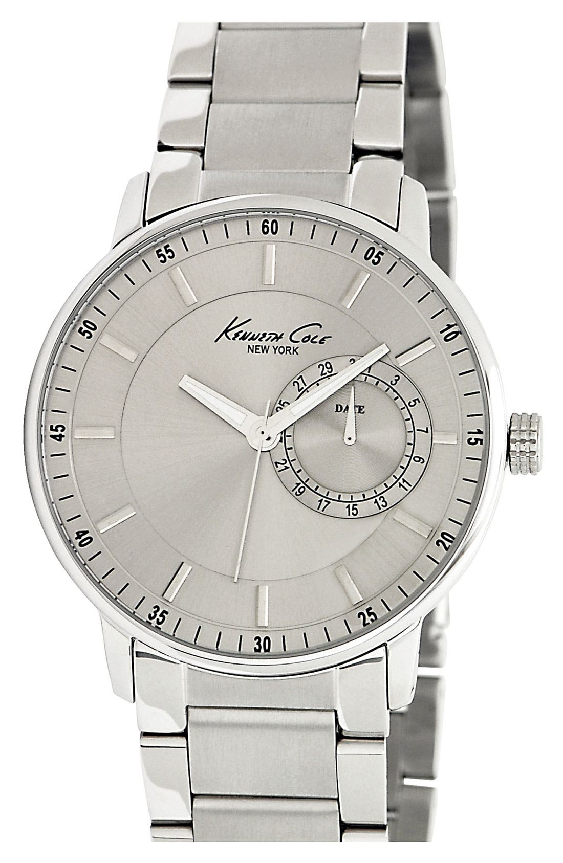 Alternate Image 1 Selected - Kenneth Cole New York Multifunction Round Dial Bracelet Watch
