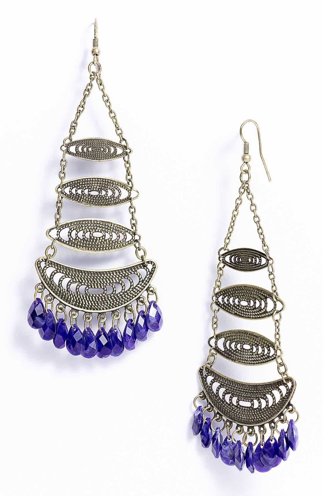 Main Image - Carole Tiered Statement Chandelier Earrings
