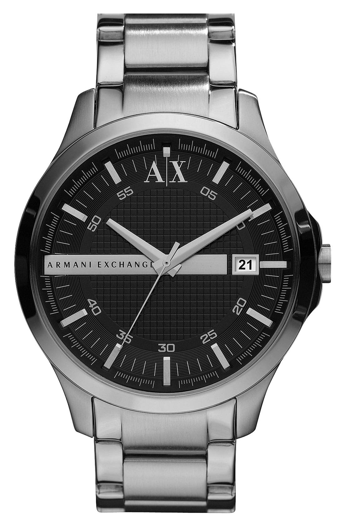 Alternate Image 1 Selected - AX Armani Exchange Bracelet Watch, 46mm