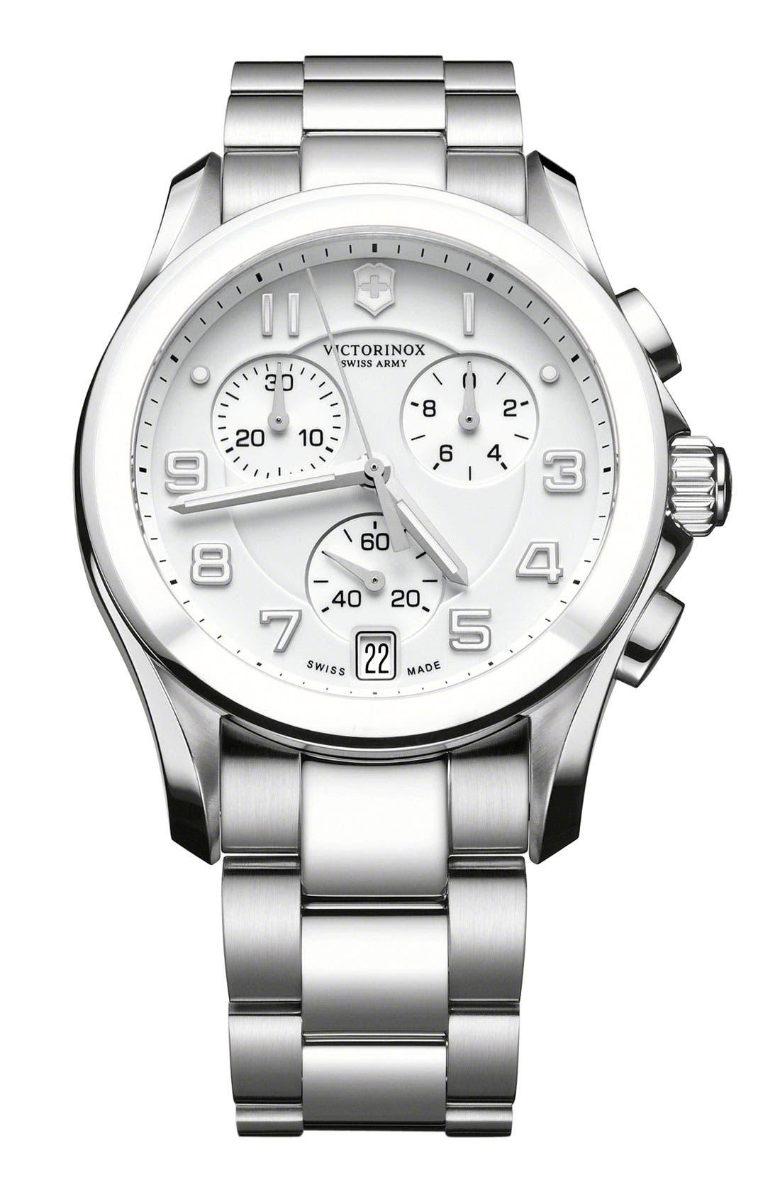 Alternate Image 1 Selected - Victorinox Swiss Army® 'Chrono Classic' Watch with Ceramic Bezel