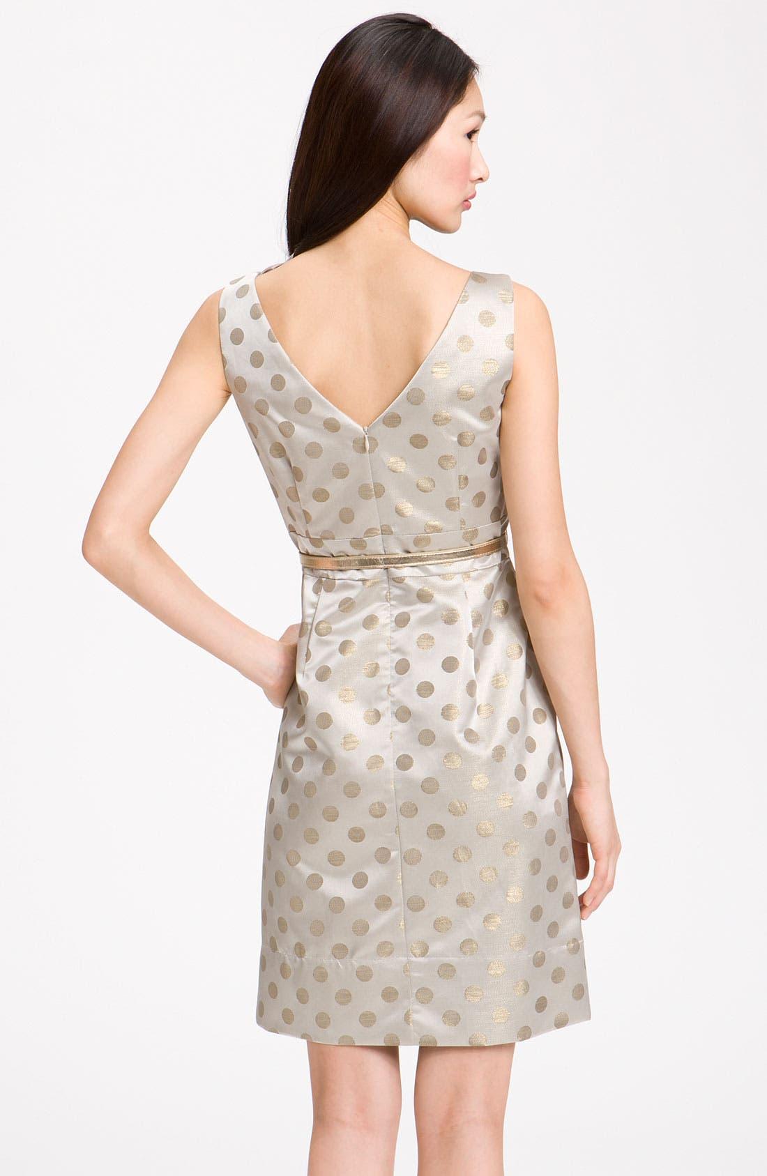 Alternate Image 2  - Eliza J Belted Ruffle Satin Sheath Dress