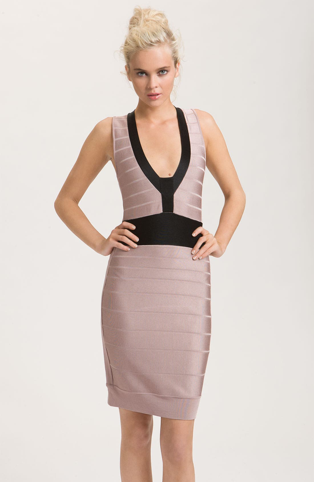 Alternate Image 1 Selected - French Connection 'Ribbon Knits' Banded Dress