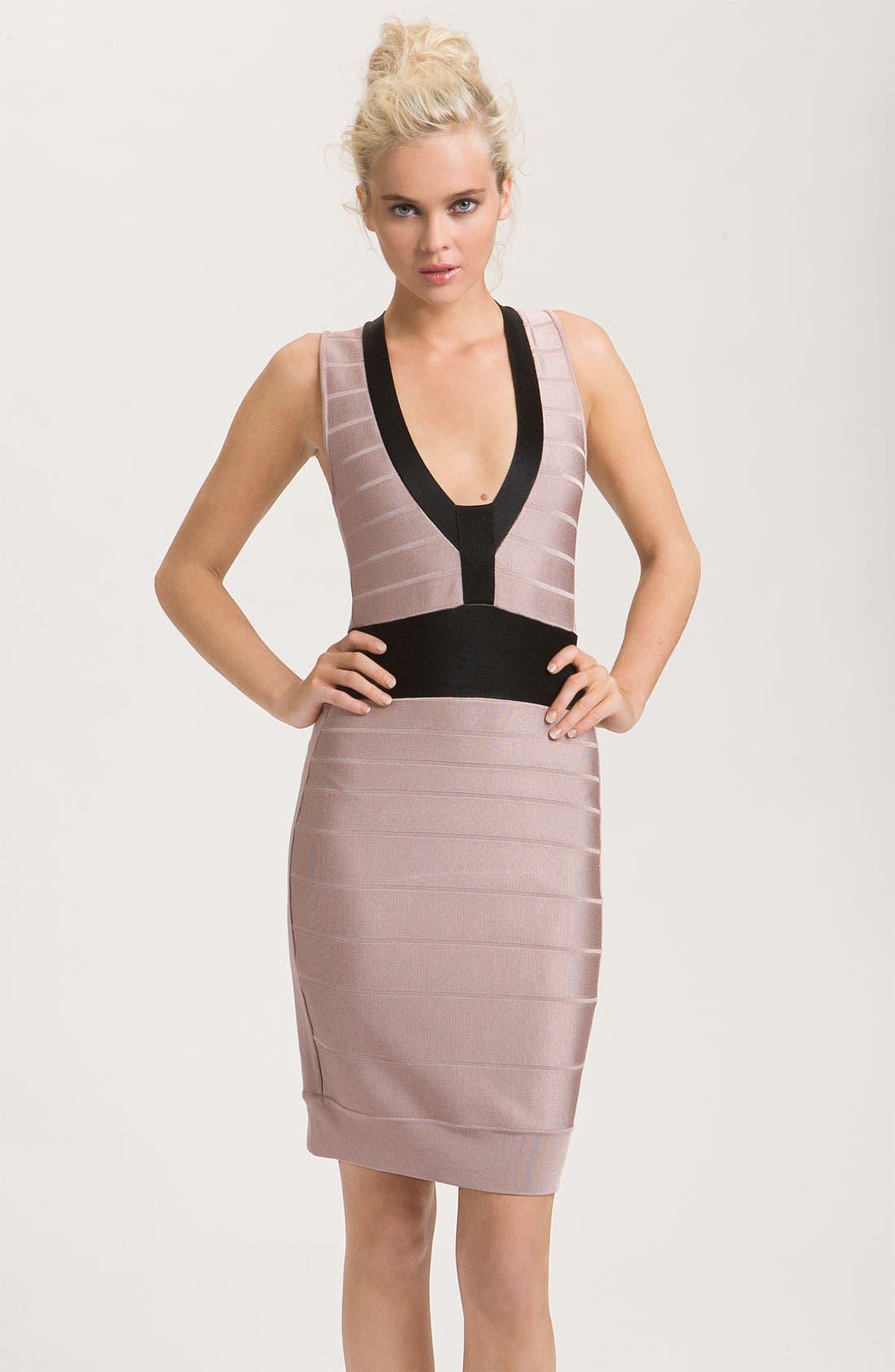 Main Image - French Connection 'Ribbon Knits' Banded Dress