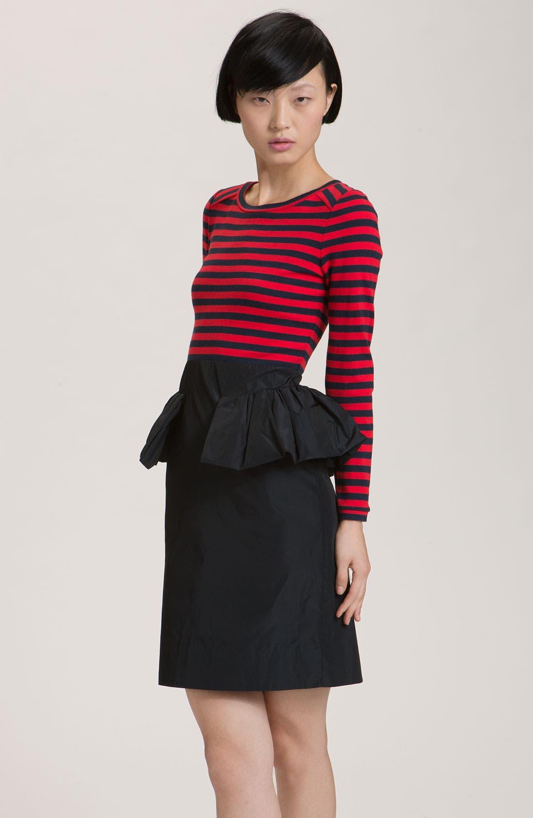 Alternate Image 1 Selected - MARC BY MARC JACOBS 'Ellsworth' Striped Peplum Dress