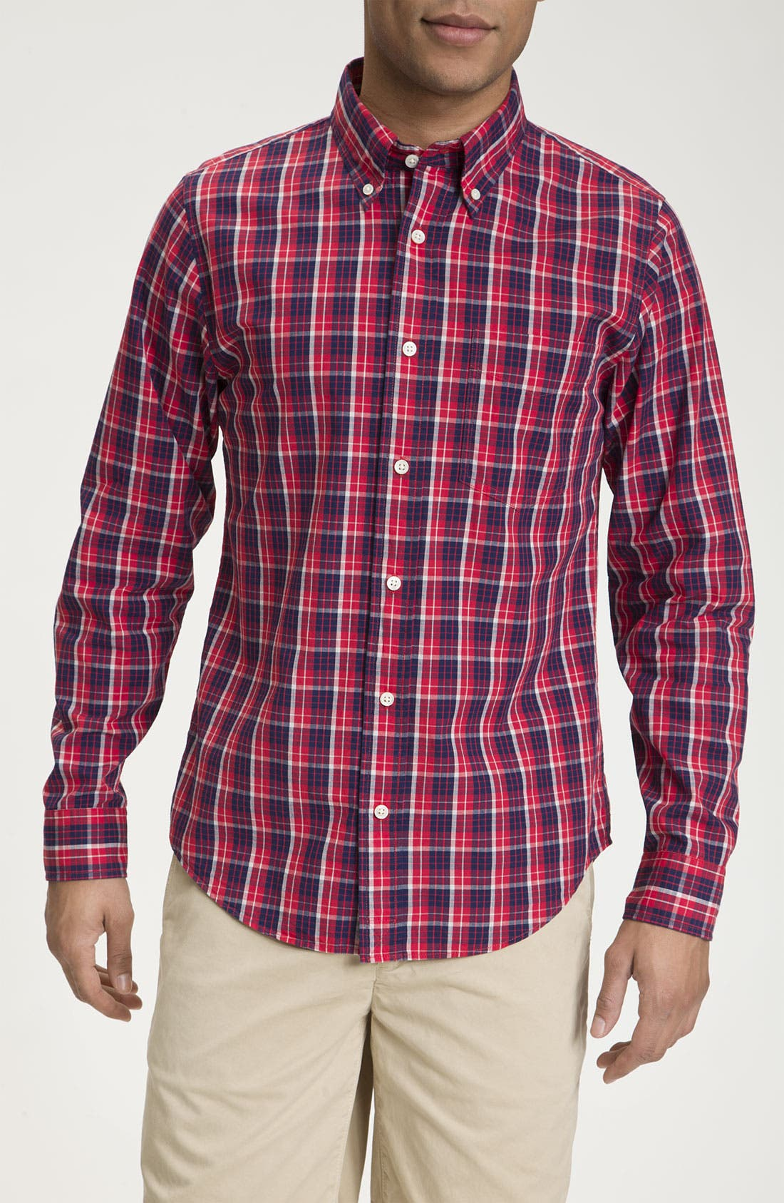 Alternate Image 1 Selected - Jack Spade 'Adler' Plaid Woven Shirt