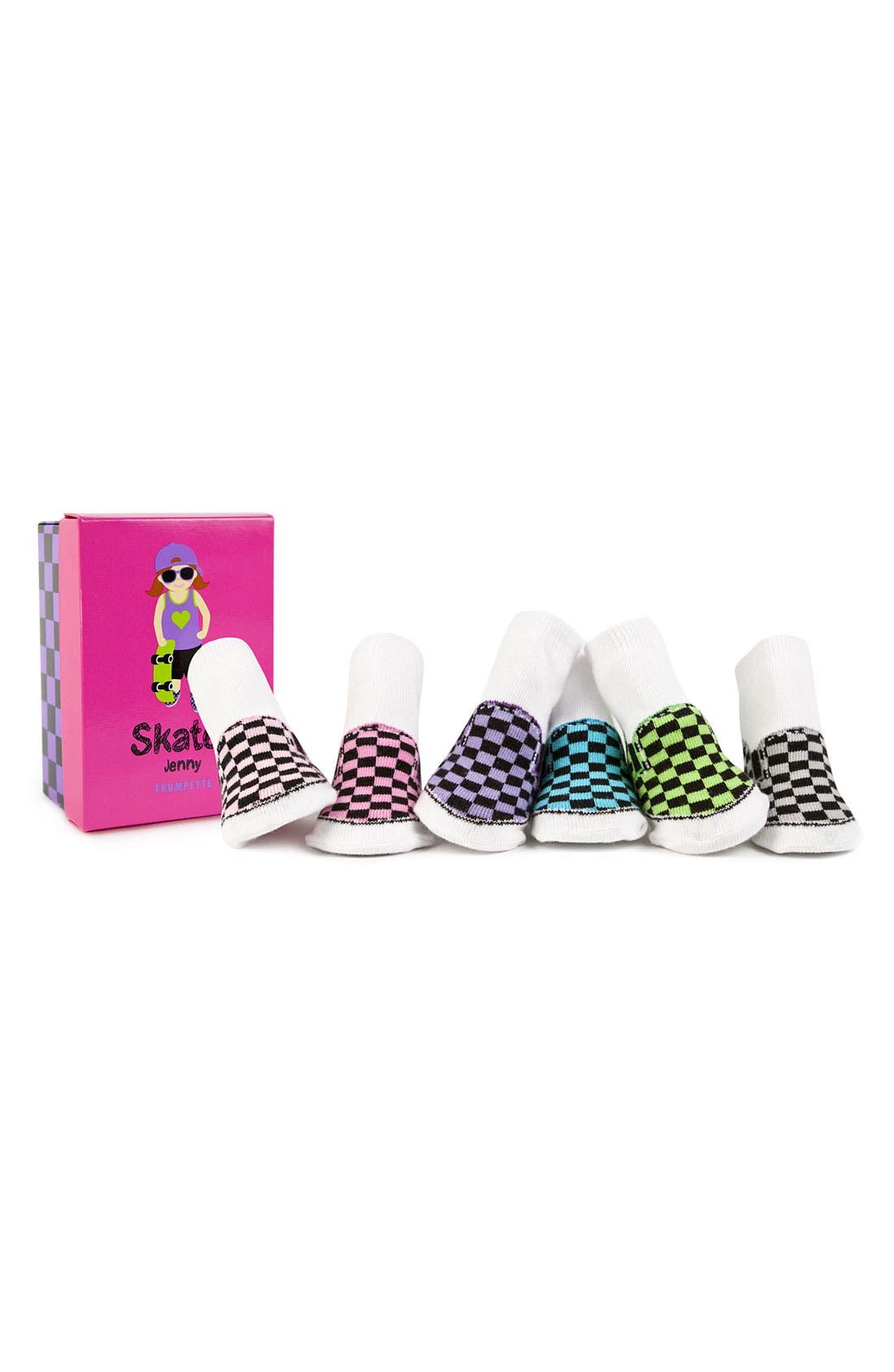 Main Image - Trumpette 'Skater Jenny' Socks (6-Pack)(Baby Girls)