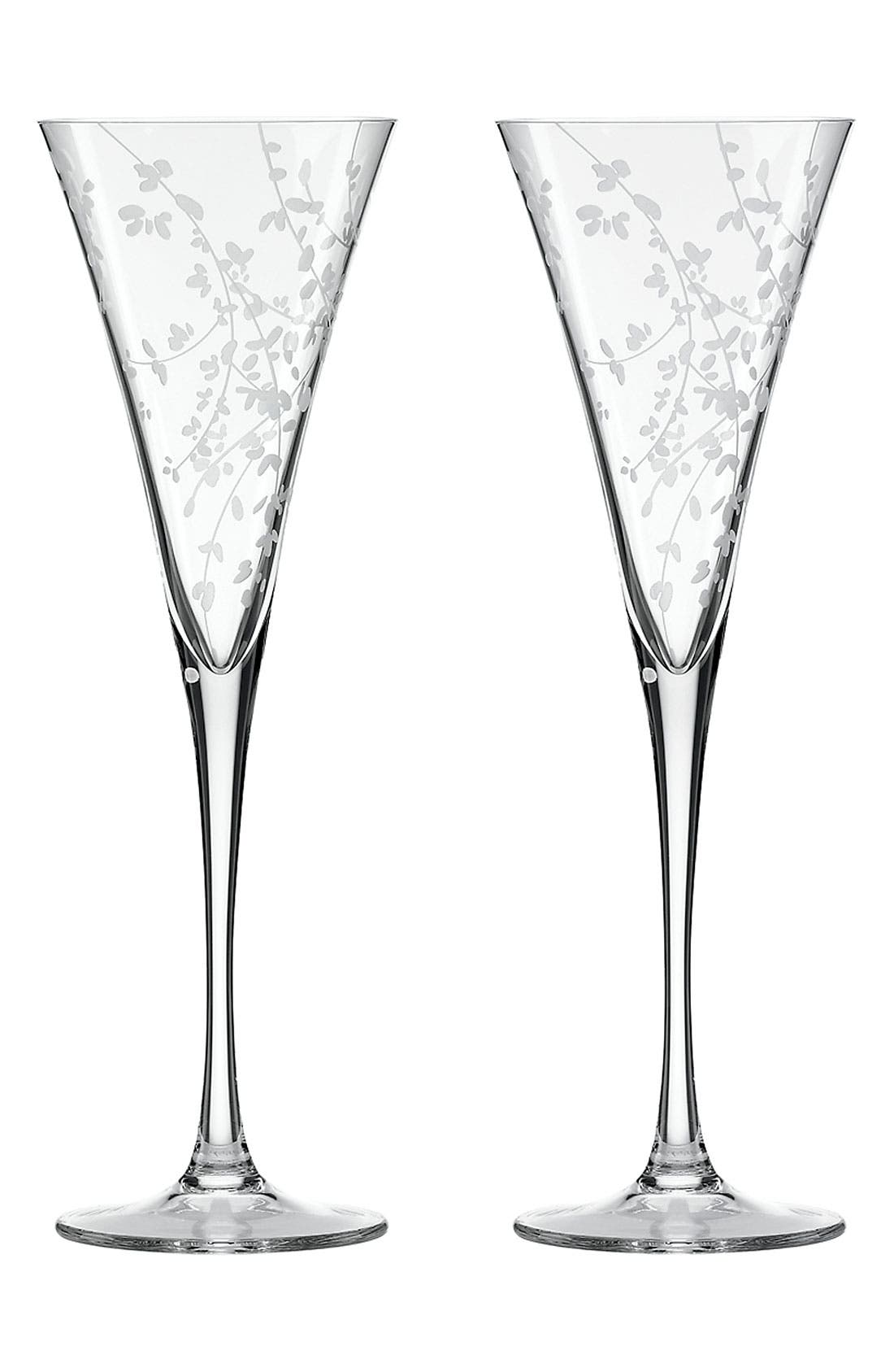 Main Image - kate spade new york 'gardner street' toasting flutes (set of 2)