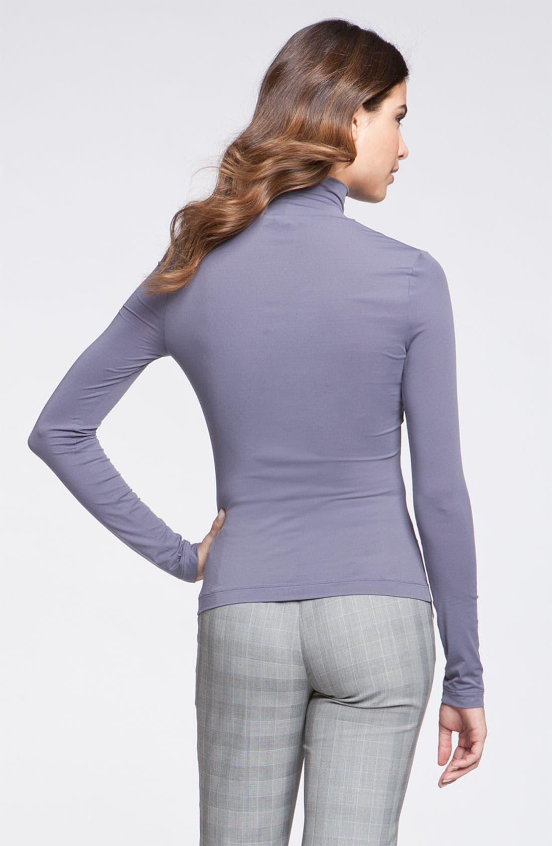 Alternate Image 2  - St. John Collection Fine Jersey Turtleneck Shell
