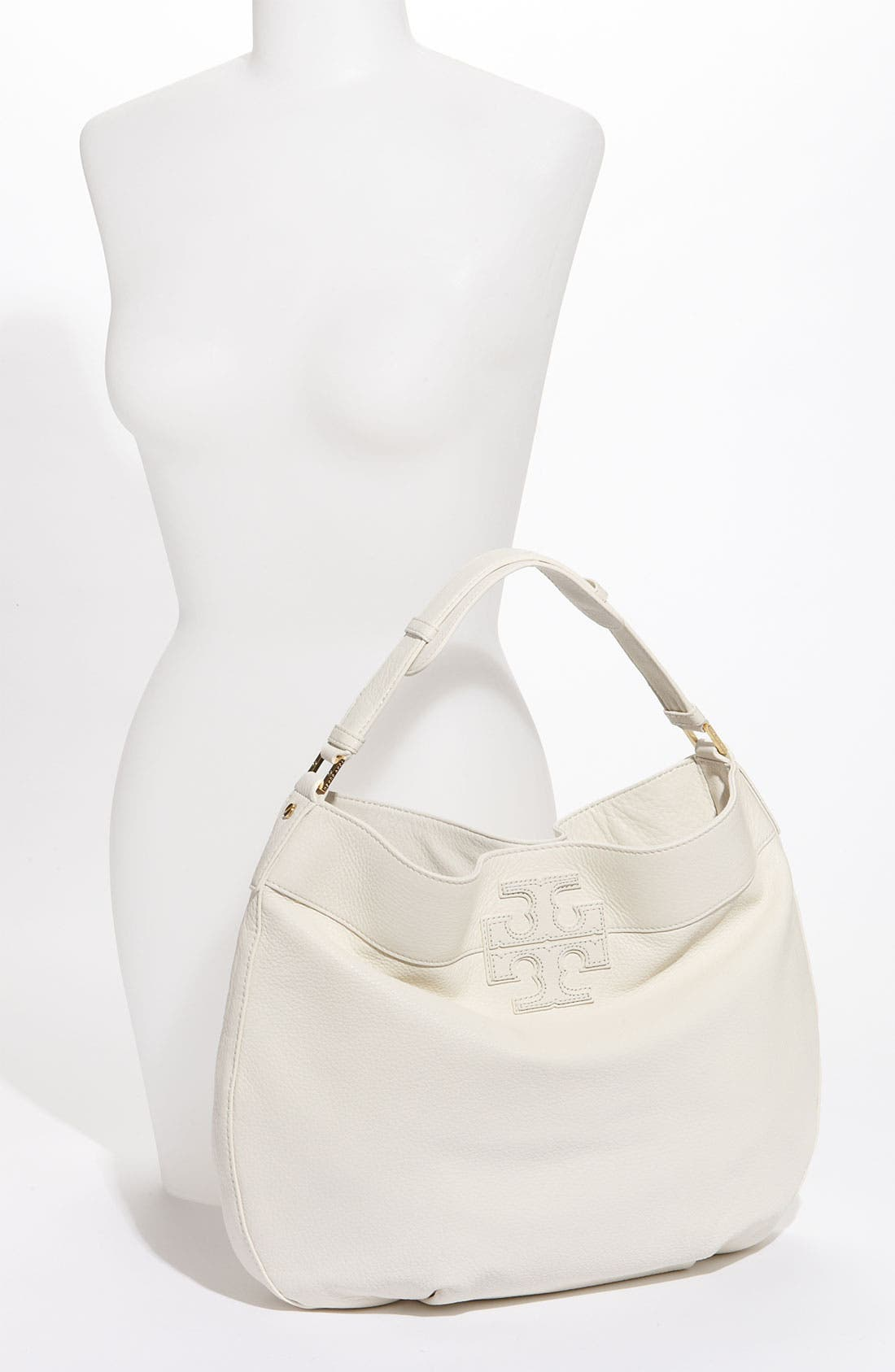 Alternate Image 2  - Tory Burch 'Stacked T Logo' Leather Hobo