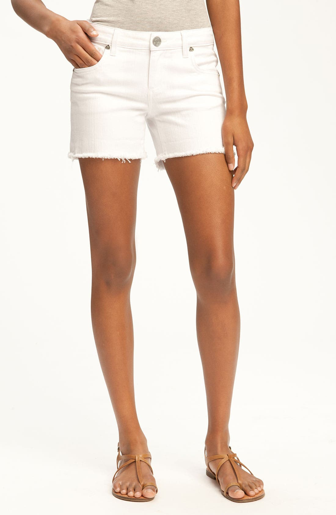 Main Image - KUT from the Kloth 'Gidget Frey' Color Denim Shorts