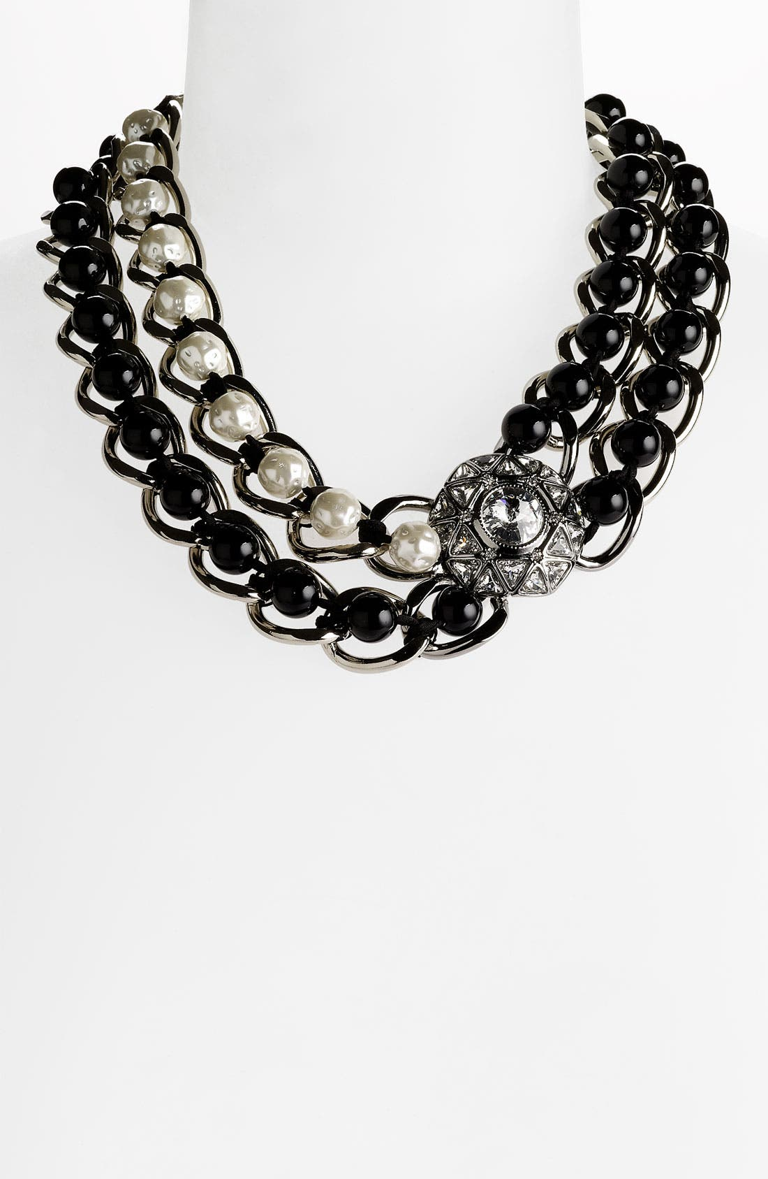 Main Image - St. John Collection Glass Pearl & Stone Necklace
