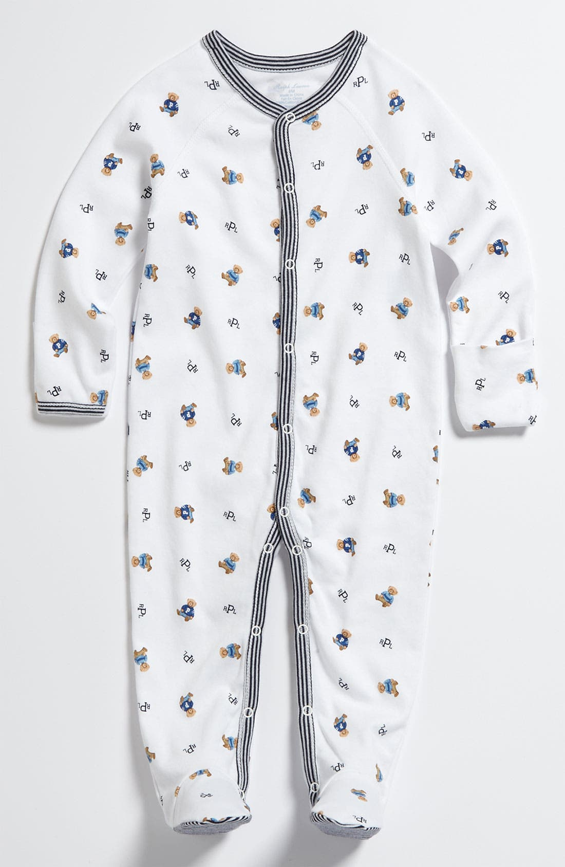 Alternate Image 1 Selected - Ralph Lauren Print Footie (Baby)