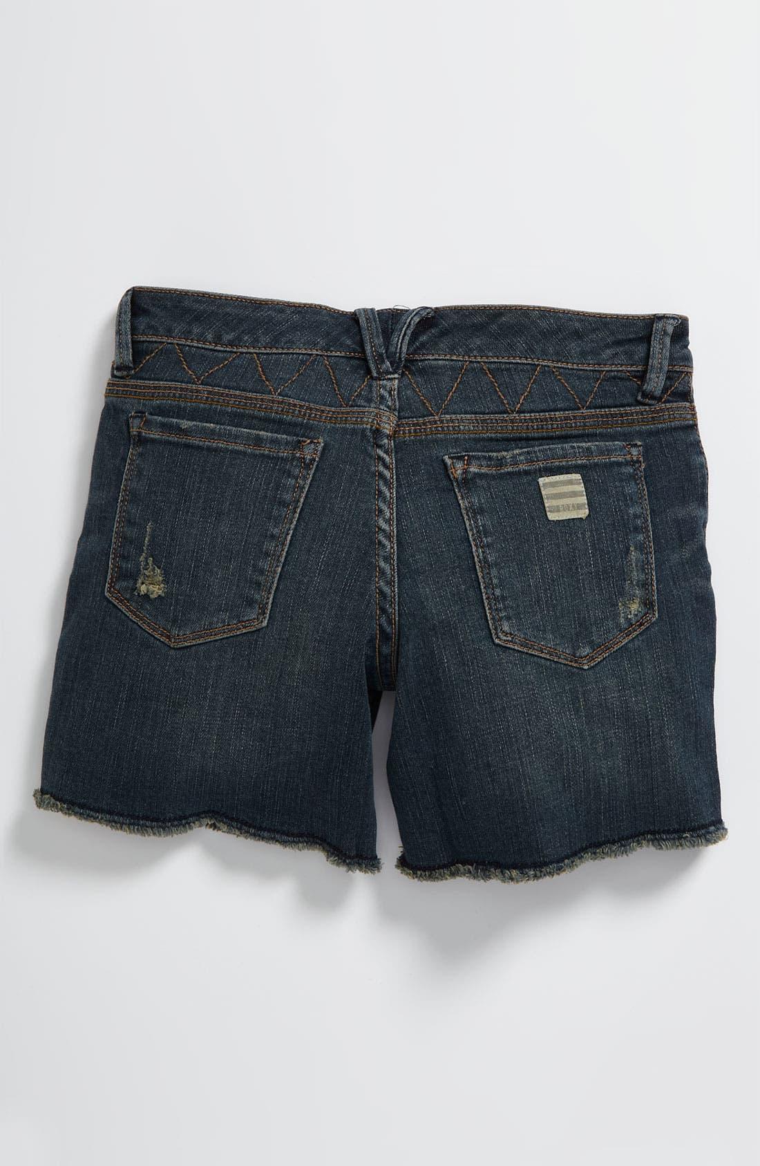 Alternate Image 1 Selected - Roxy Denim Shorts (Big Girls)