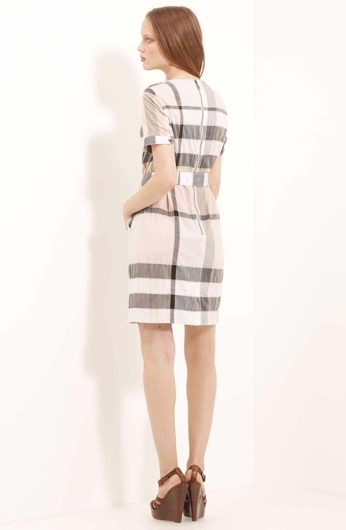 Alternate Image 2  - Burberry Brit Belted Check Pattern Dress