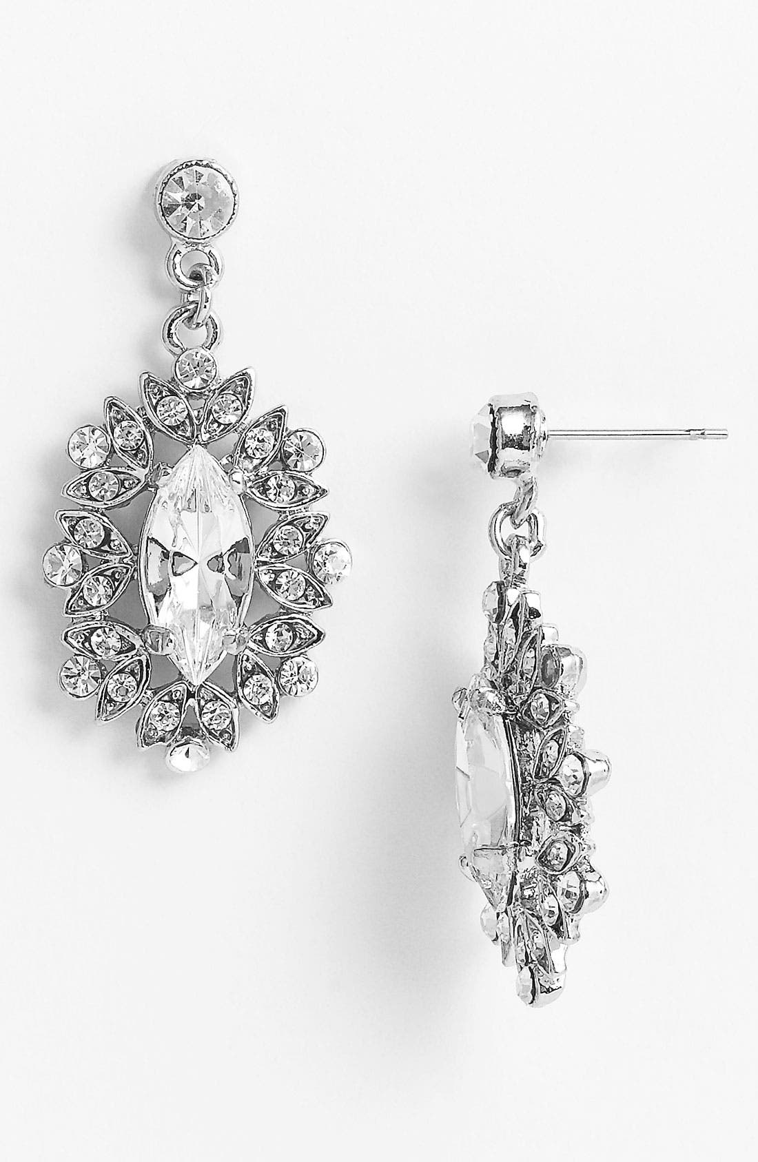 Alternate Image 1 Selected - Nina 'Celia' Marquise Drop Earrings