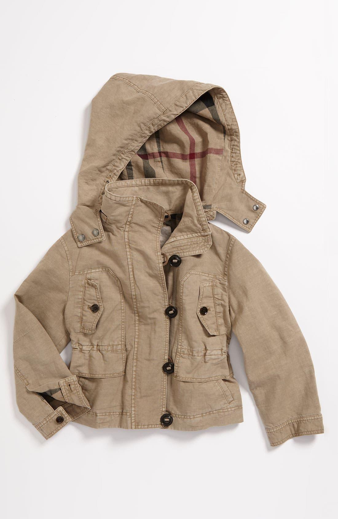 Main Image - Burberry Crop Jacket (Little Girls)