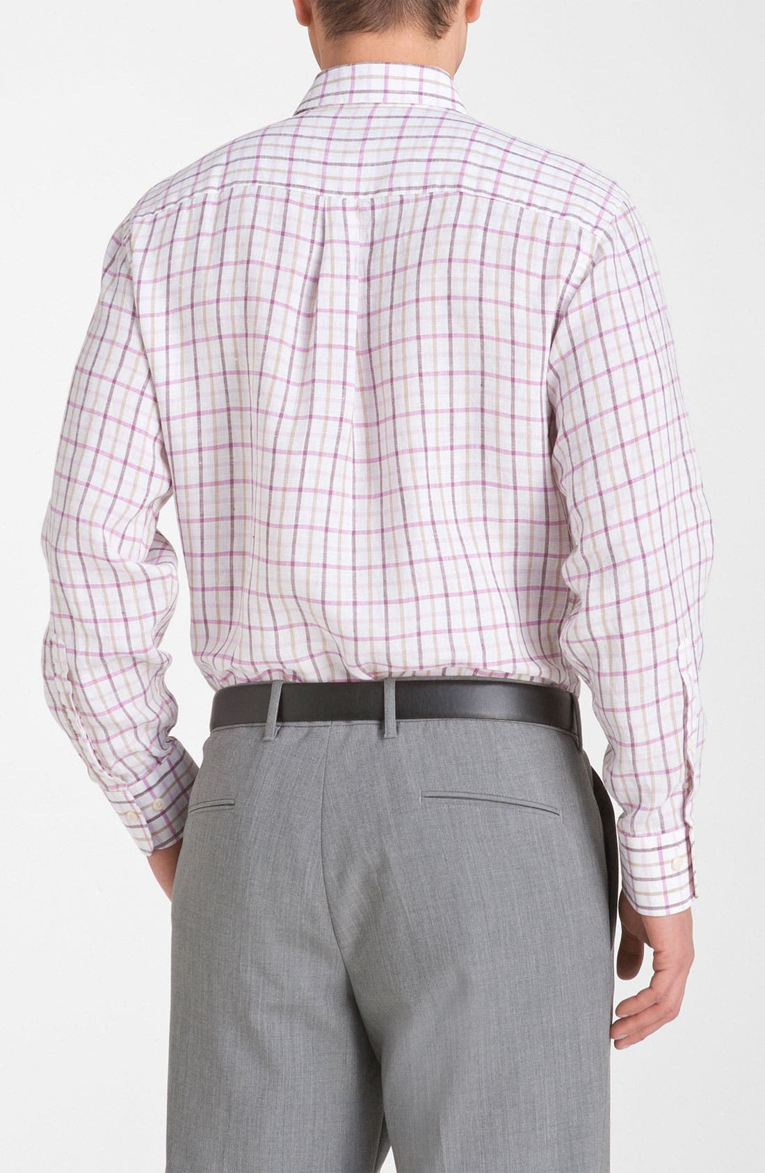 Alternate Image 2  - Peter Millar Regular Fit Linen Sport Shirt