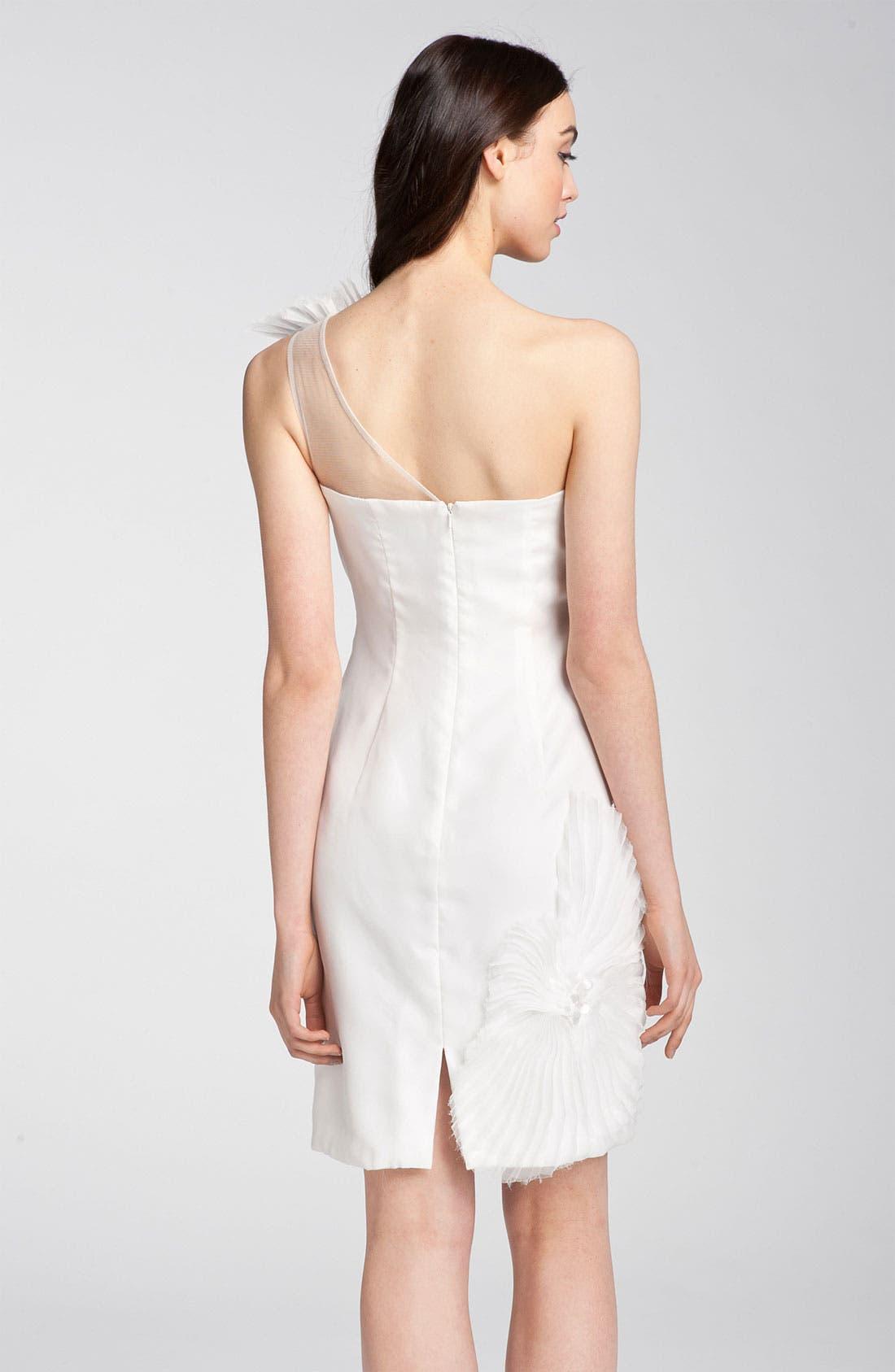Alternate Image 2  - Kathy Hilton One Shoulder Tulle Overlay Dress