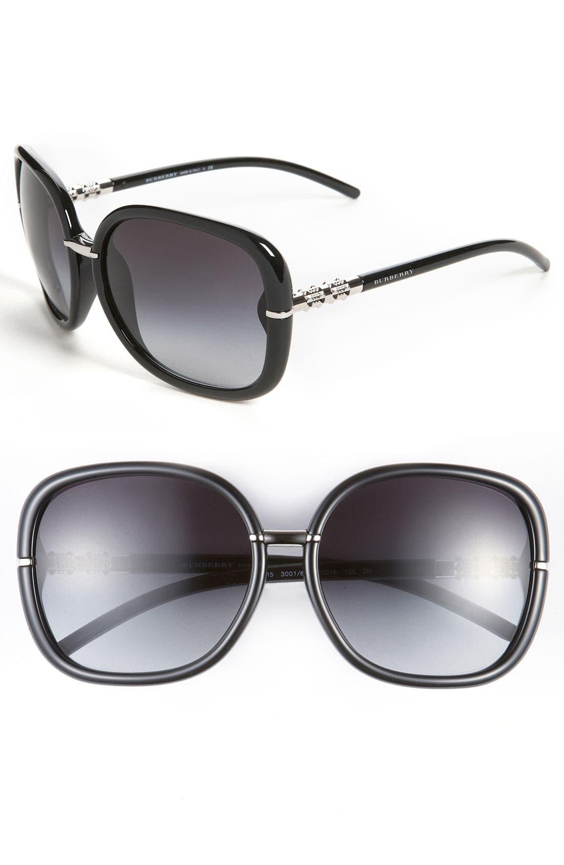 Alternate Image 1 Selected - Burberry Oversized Sunglasses