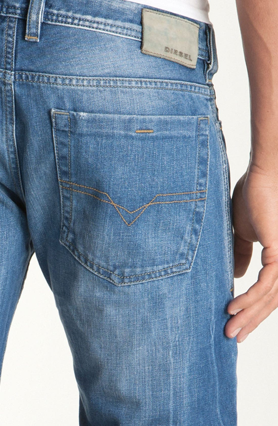 Alternate Image 3  - DIESEL® 'Zatiny' Bootcut Jeans (888B)