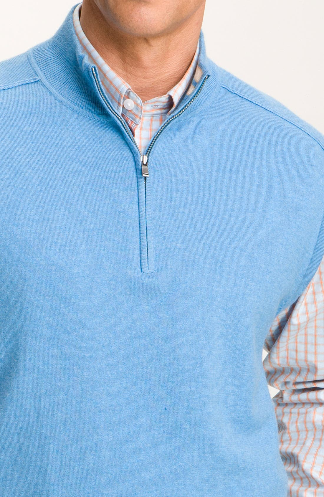 Alternate Image 3  - Cutter & Buck 'Thomas' Half Zip Vest (Big & Tall) (Online Exclusive)