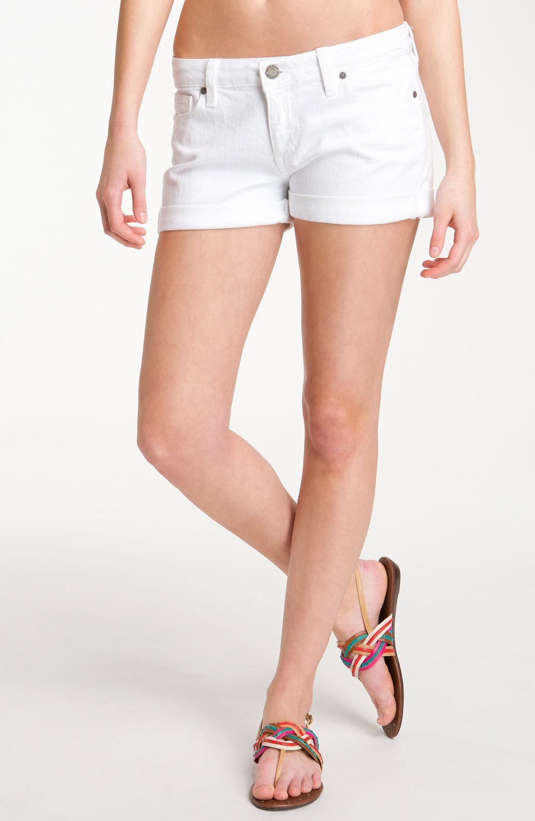 Main Image - Paige Denim 'Jimmy Jimmy' Shorts (Optic White)
