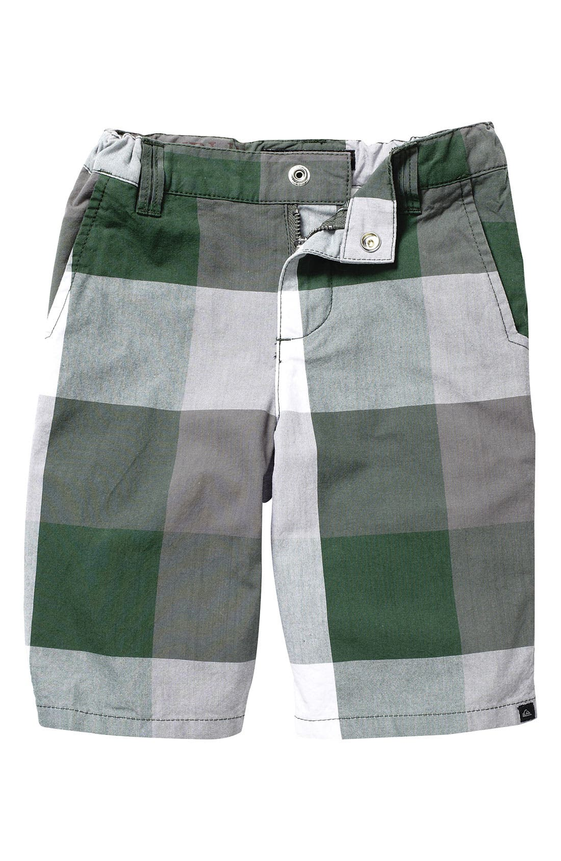 Main Image - Quiksilver 'Colossal' Plaid Shorts (Toddler)