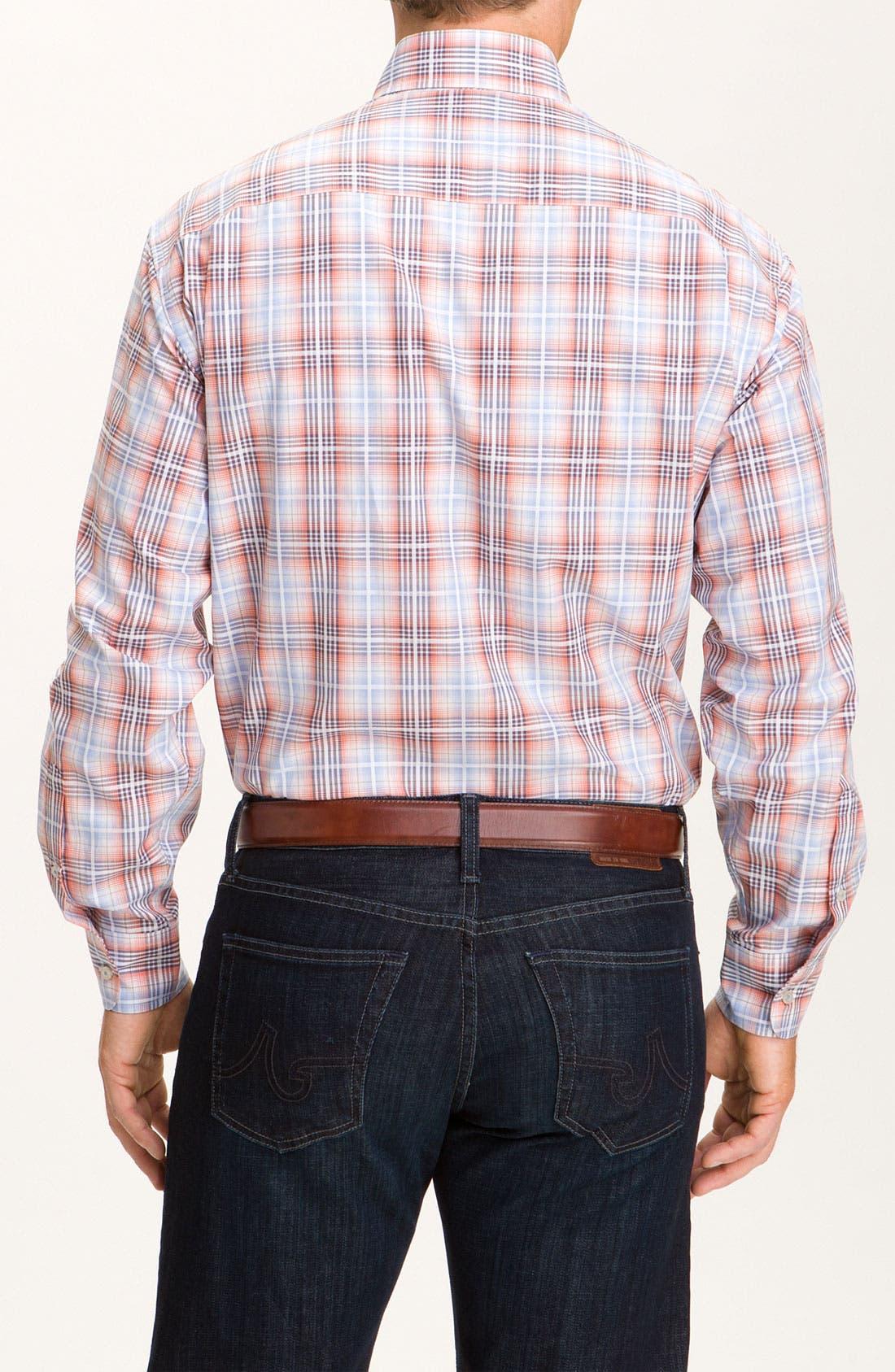 Alternate Image 2  - Robert Talbott Plaid Sport Shirt