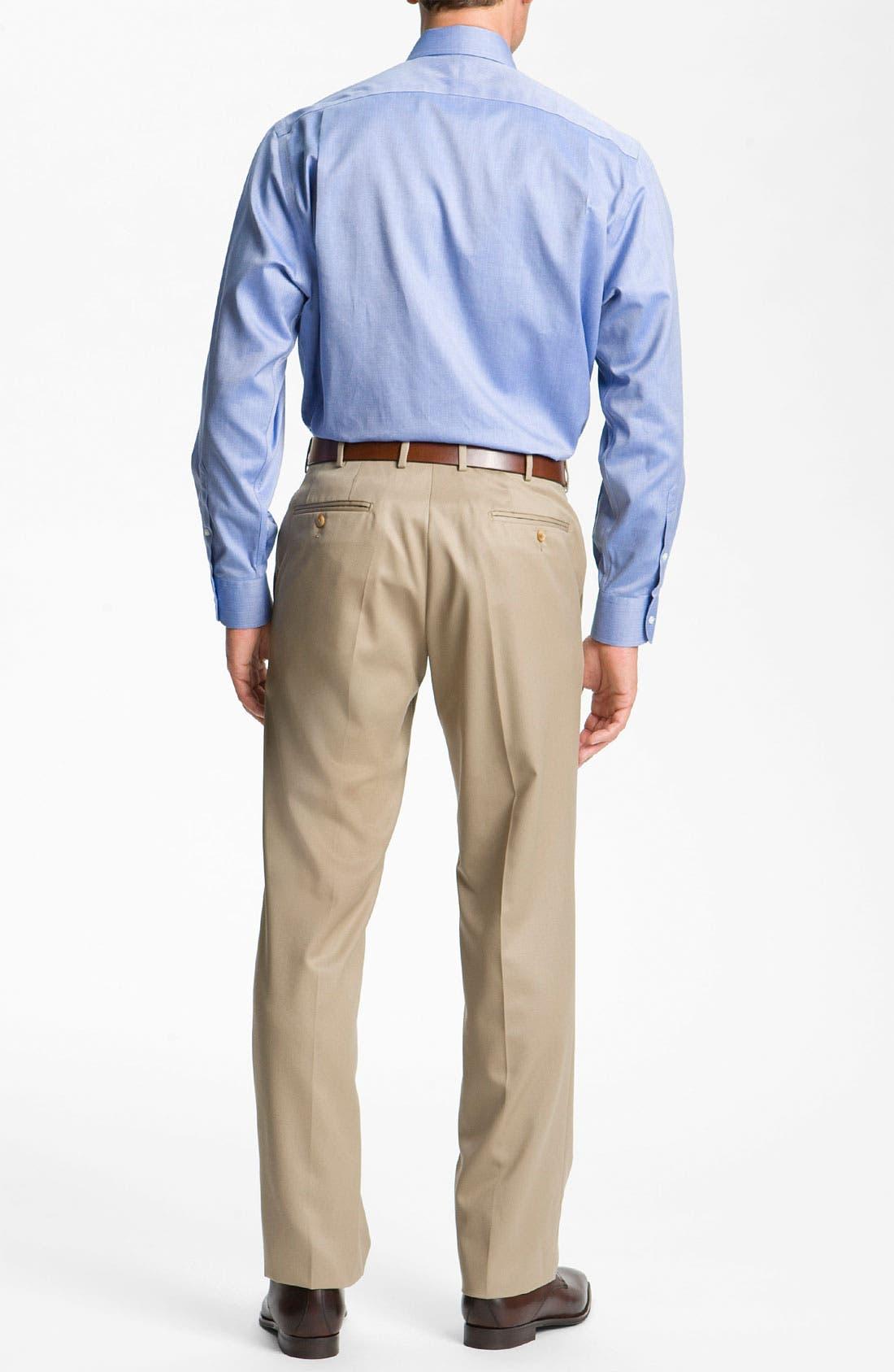 Alternate Image 8  - Nordstrom Men's Shop Smartcare™ Wrinkle Free Traditional Fit Herringbone Dress Shirt