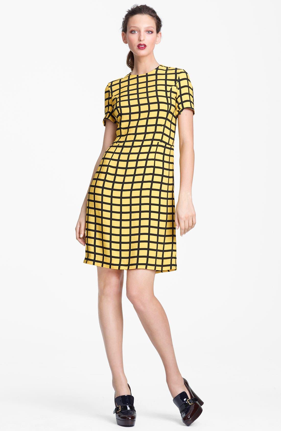 Alternate Image 1 Selected - Marni Edition Grid Print Woven Dress