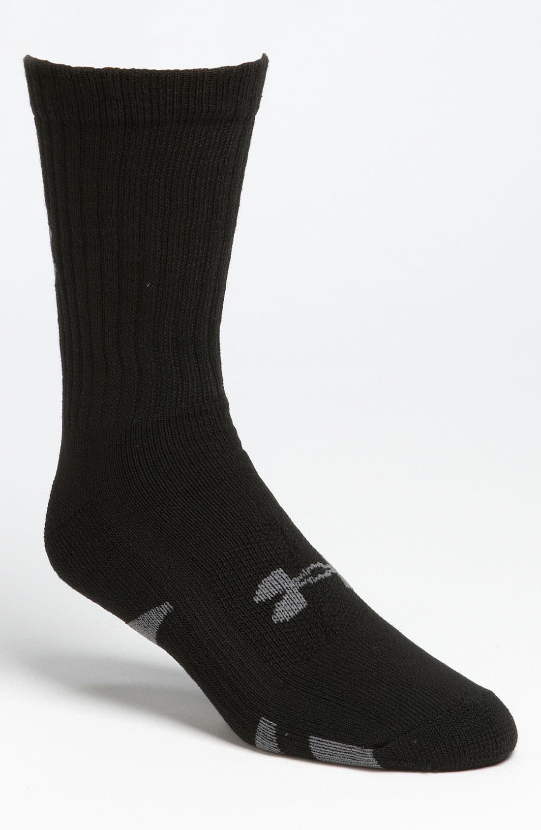 Alternate Image 1 Selected - Under Armour HeatGear® Crew Socks (4-Pack)