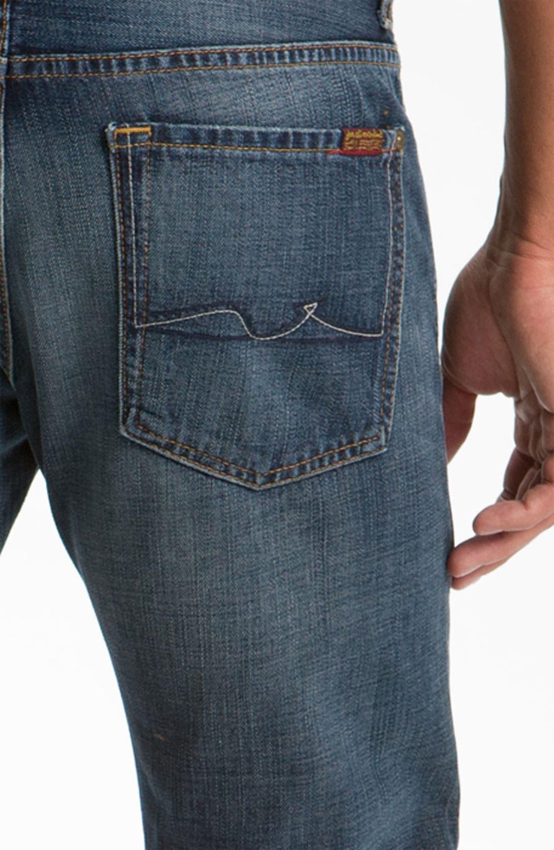 Alternate Image 4  - 7 For All Mankind® 'Austyn' Relaxed Straight Leg Jeans (California Dusk)
