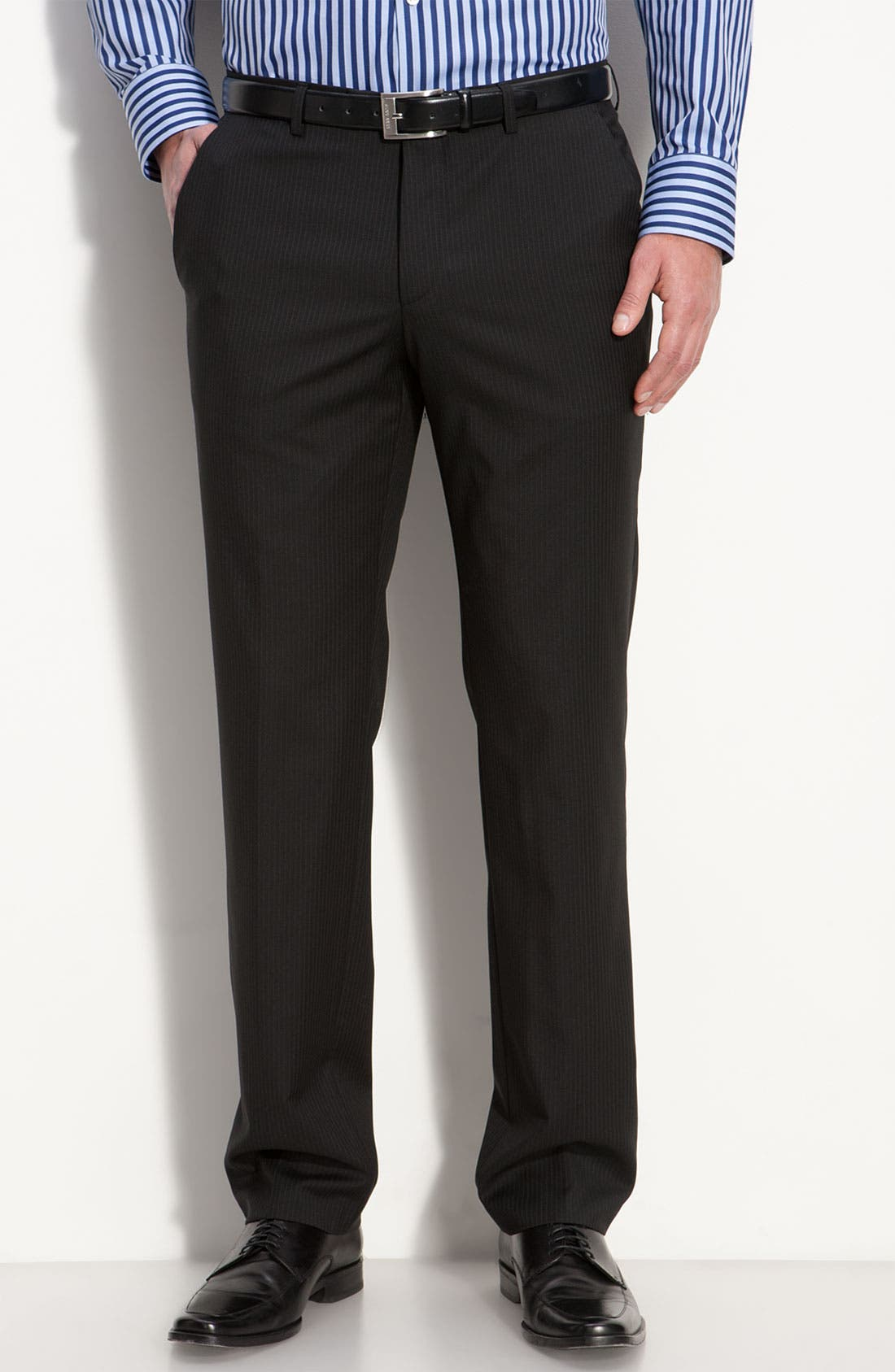 Alternate Image 4  - BOSS Black 'James/Sharp' Trim Fit Wool Suit